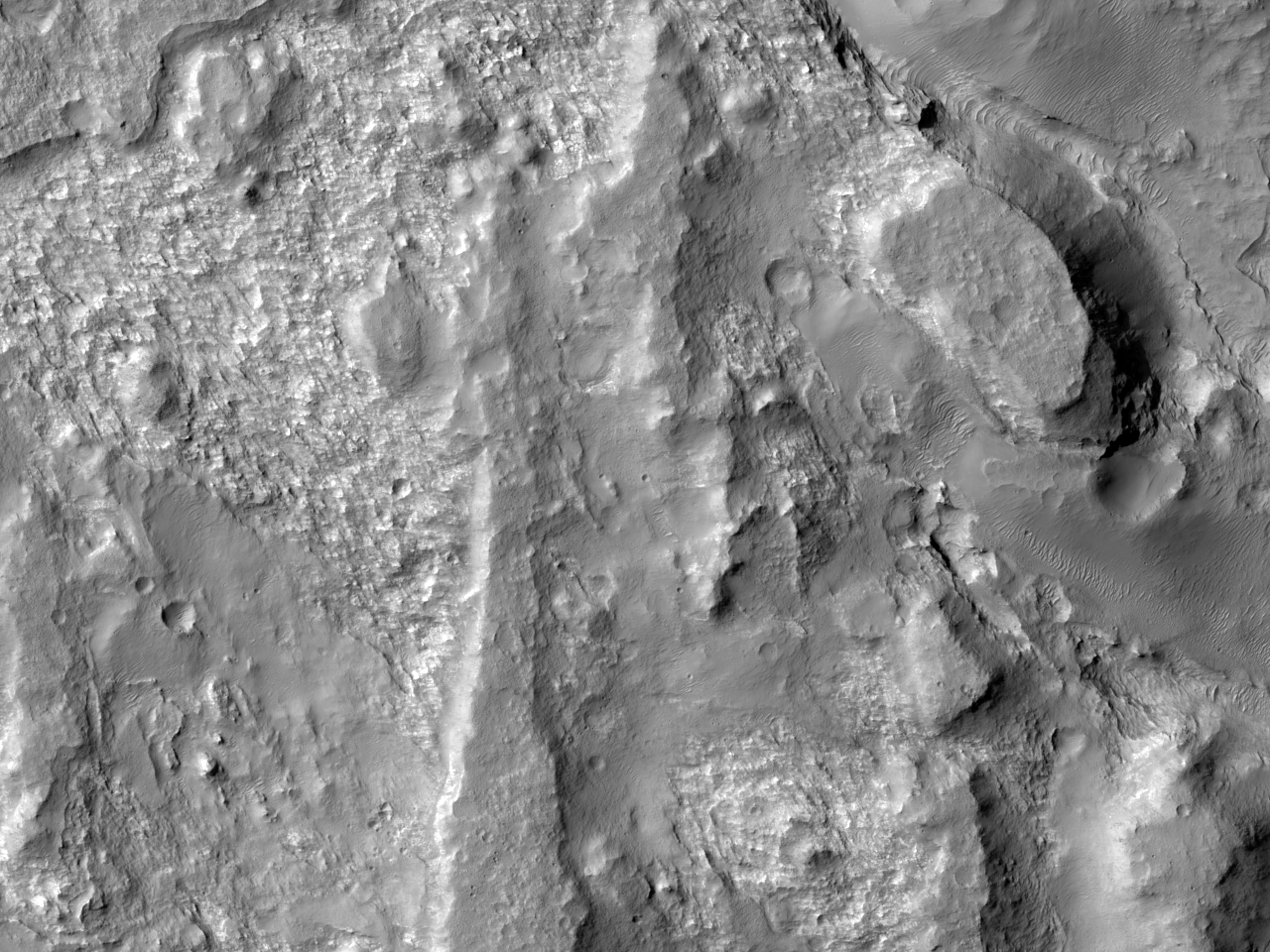 Layered Bedrock to the Northwest of Hellas Planitia