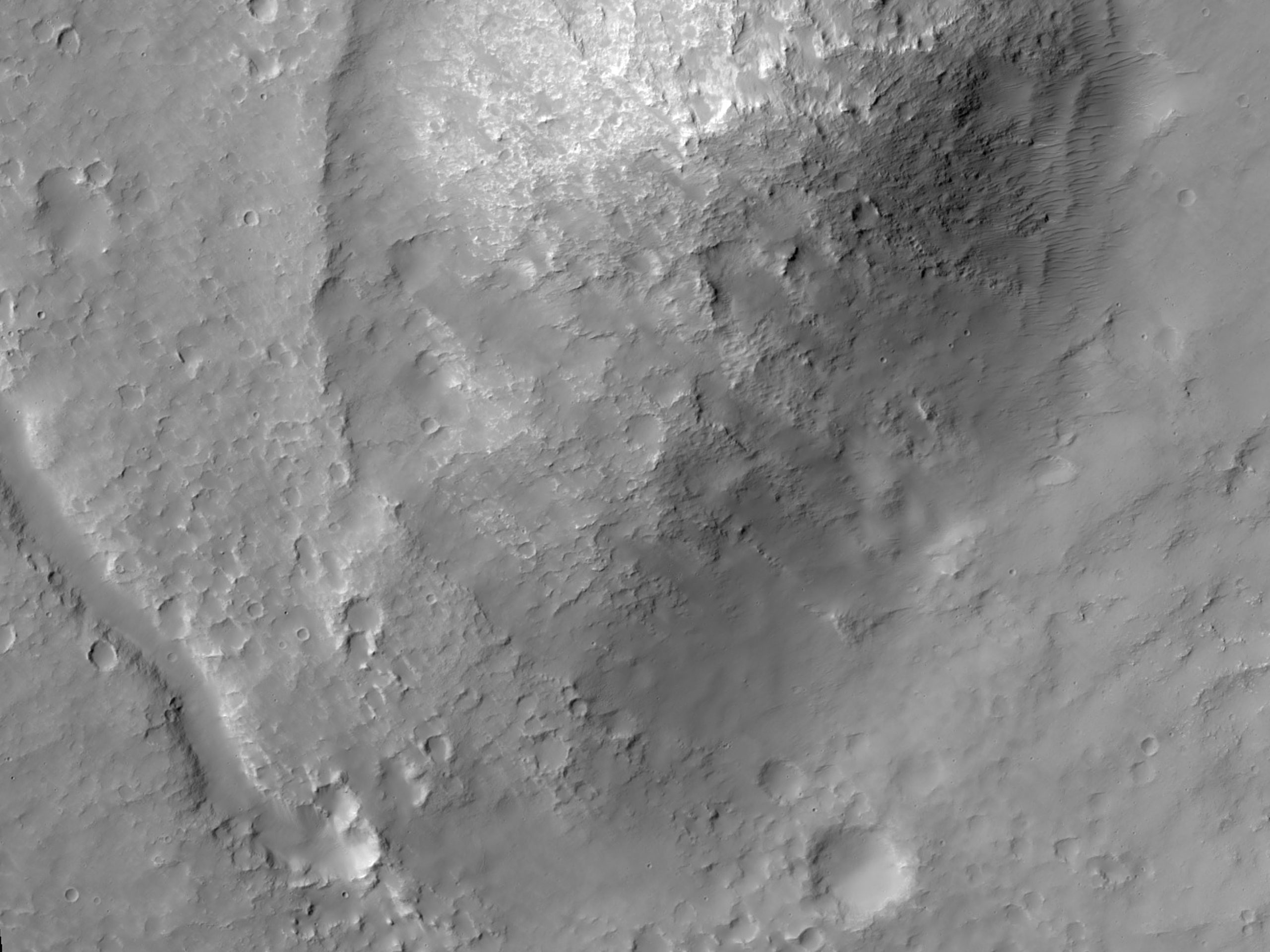 Channel Near Mound North of Hellas Planitia