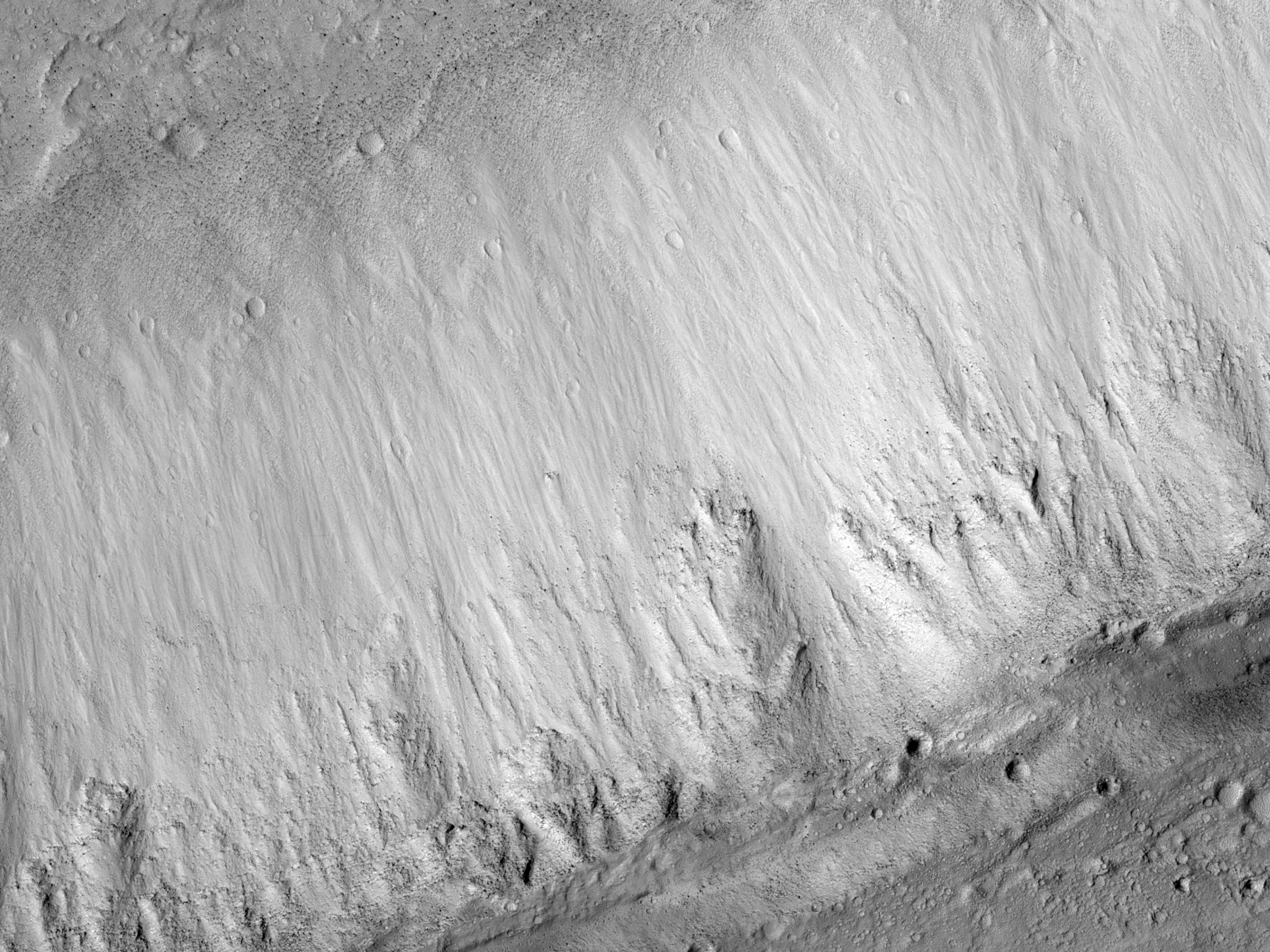 Slope Features in an Olympus Mons Caldera
