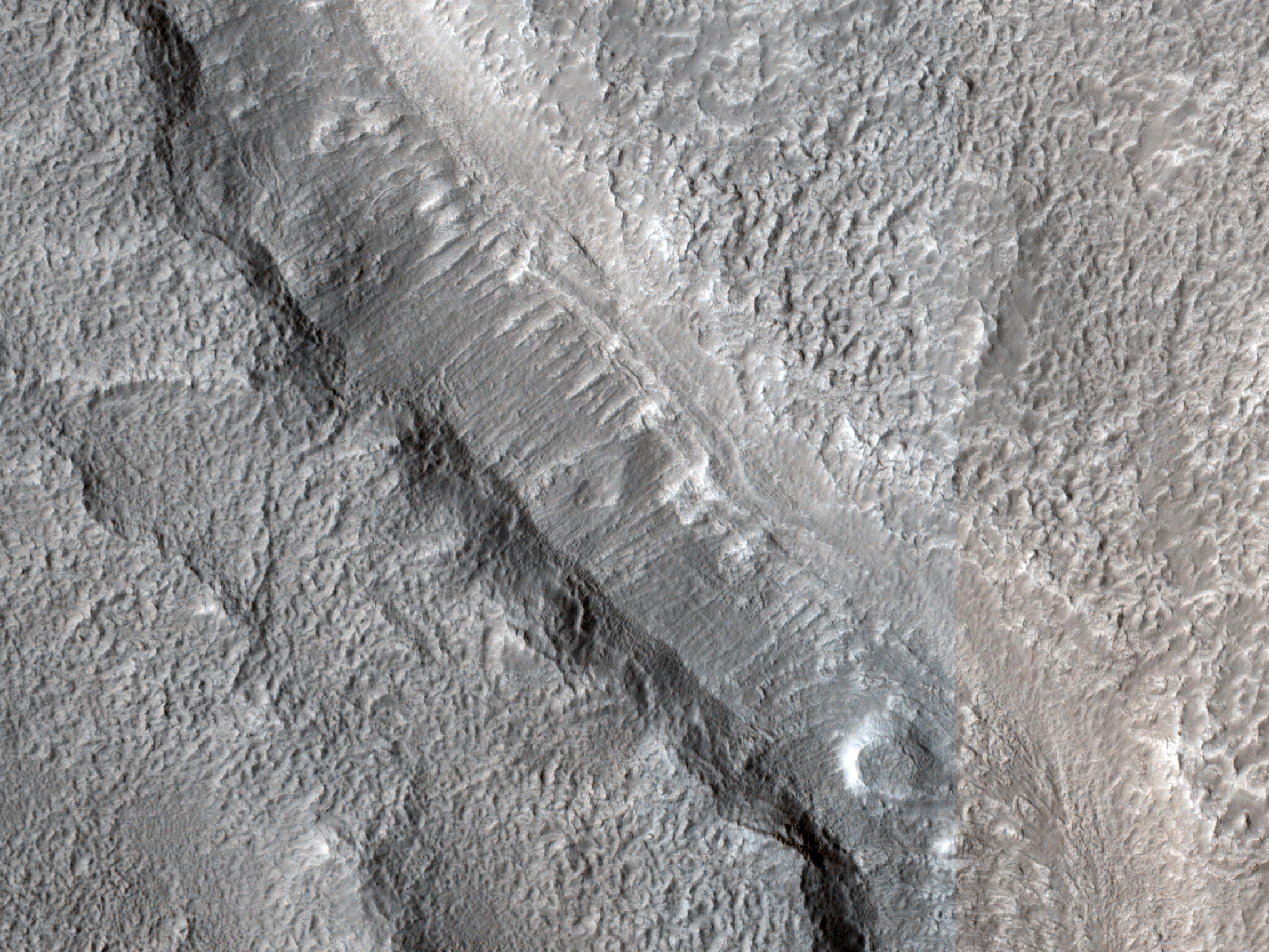 Layers along Channel in Arabia Terra