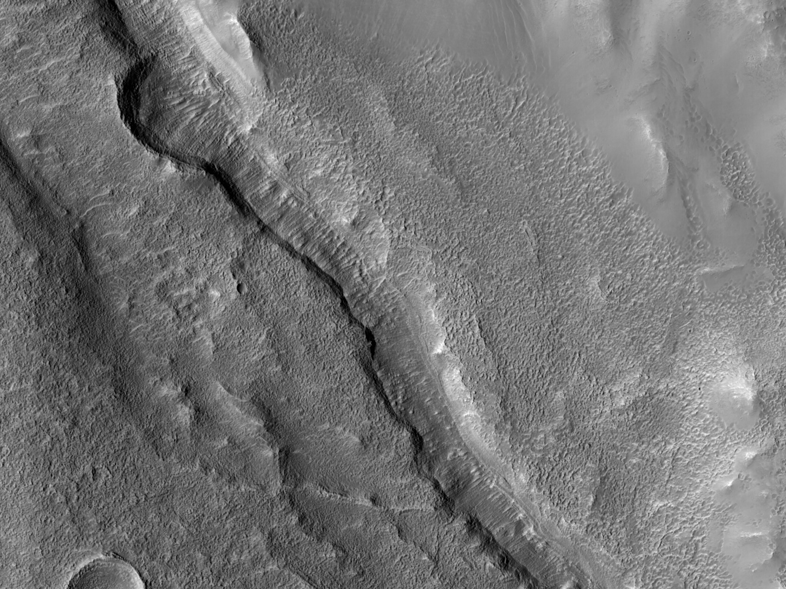 Layers along a Channel in Arabia Terra