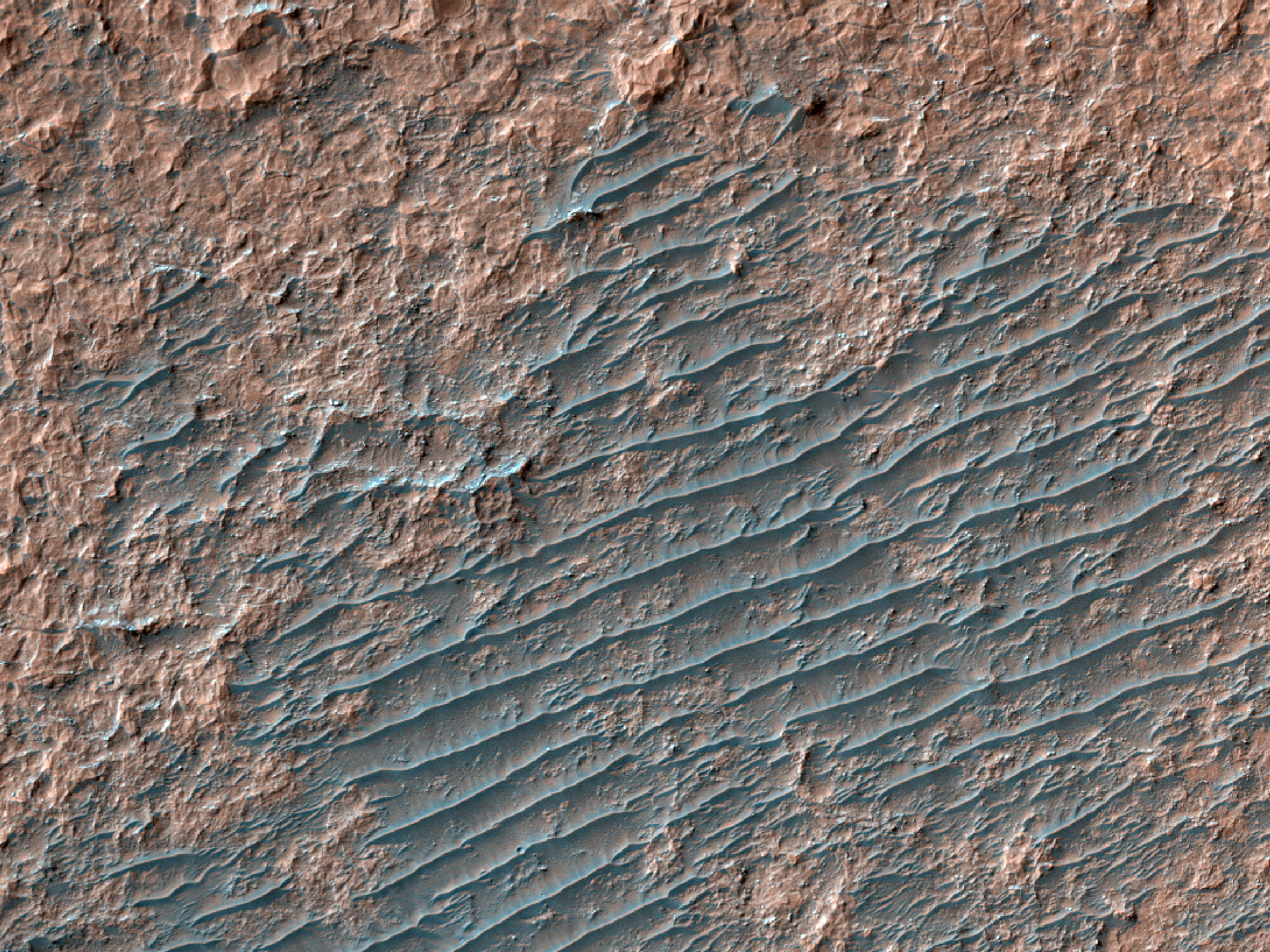Light-Toned Crater Floor Material