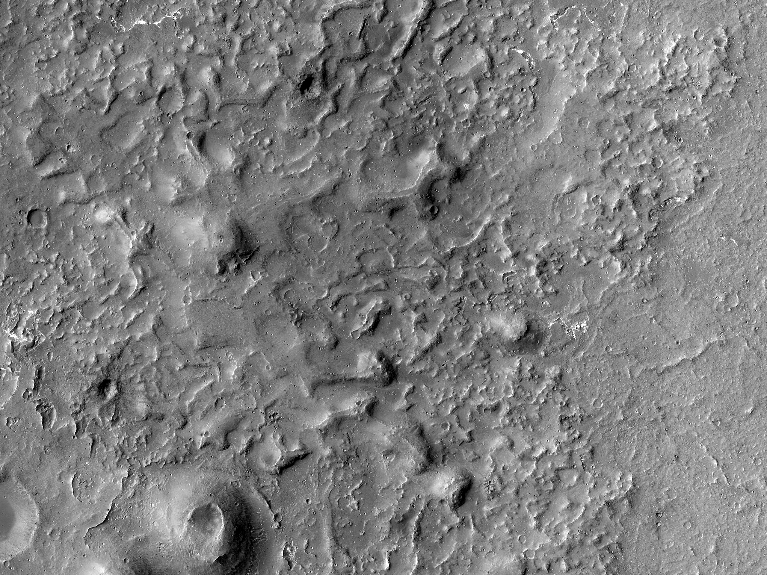 A Volcanic Field on the Floor of Coprates Chasma
