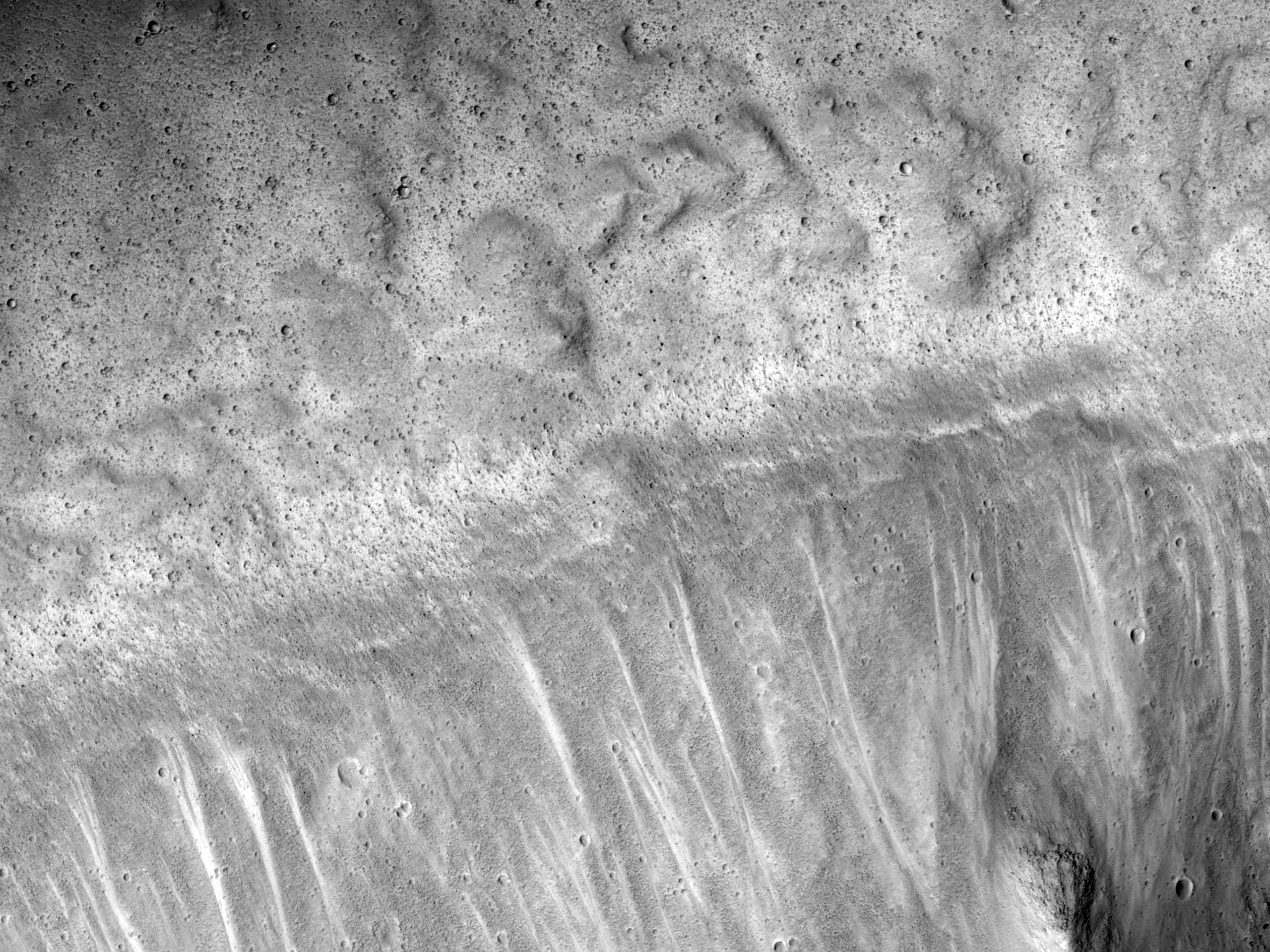 Lobate Margin on Scarp in Kasei Valles Side Canyon