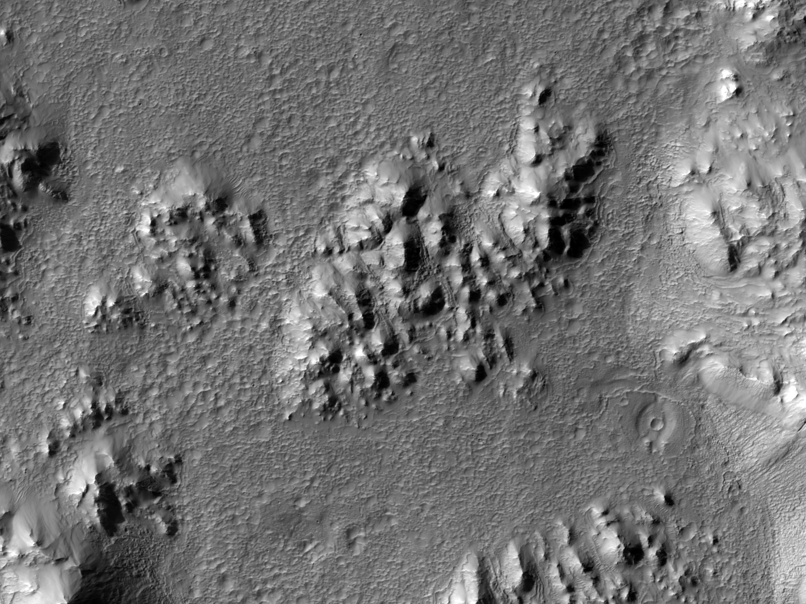 Hale Crater Ejecta