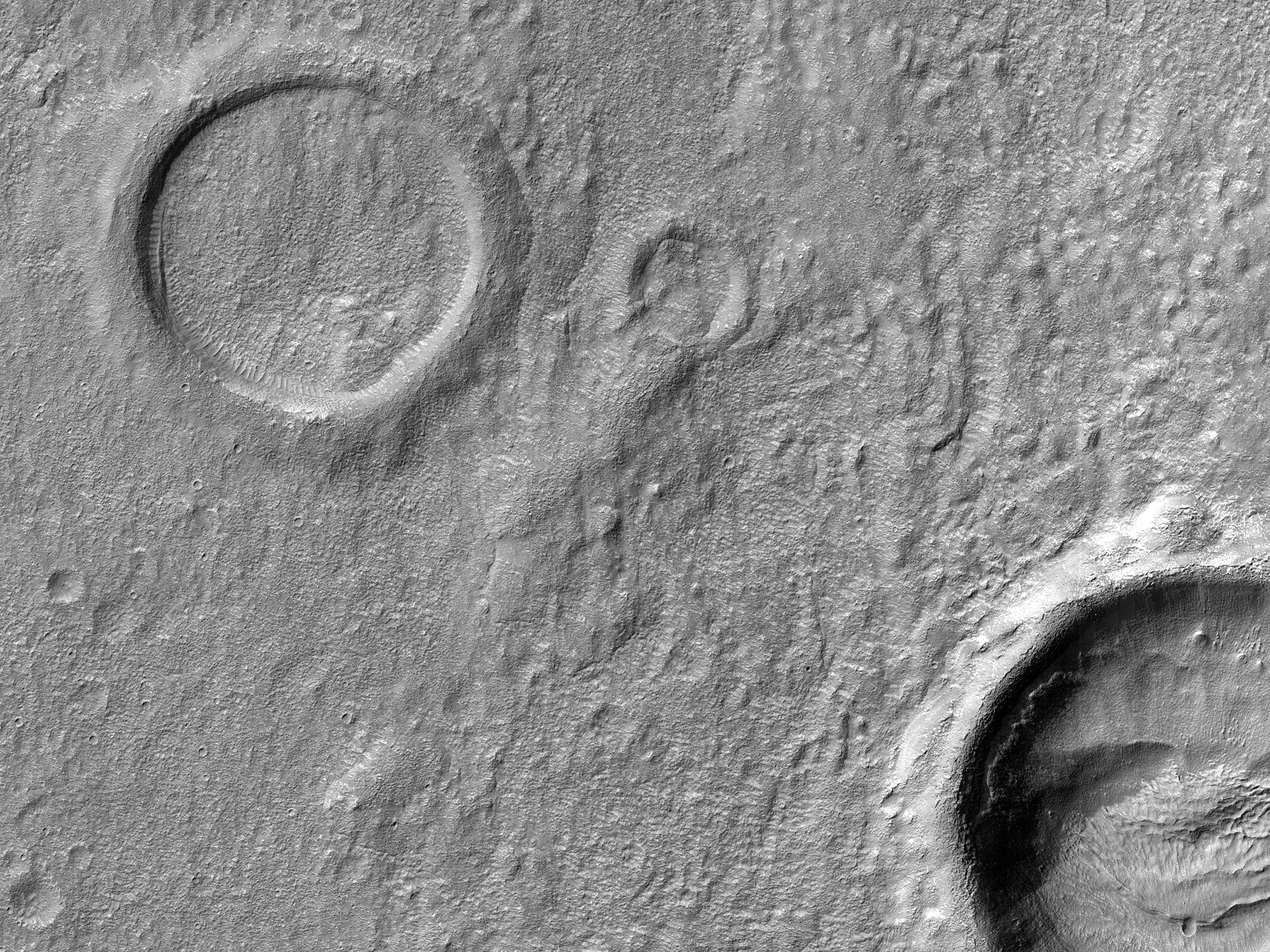 Small Craters in Promethei Terra