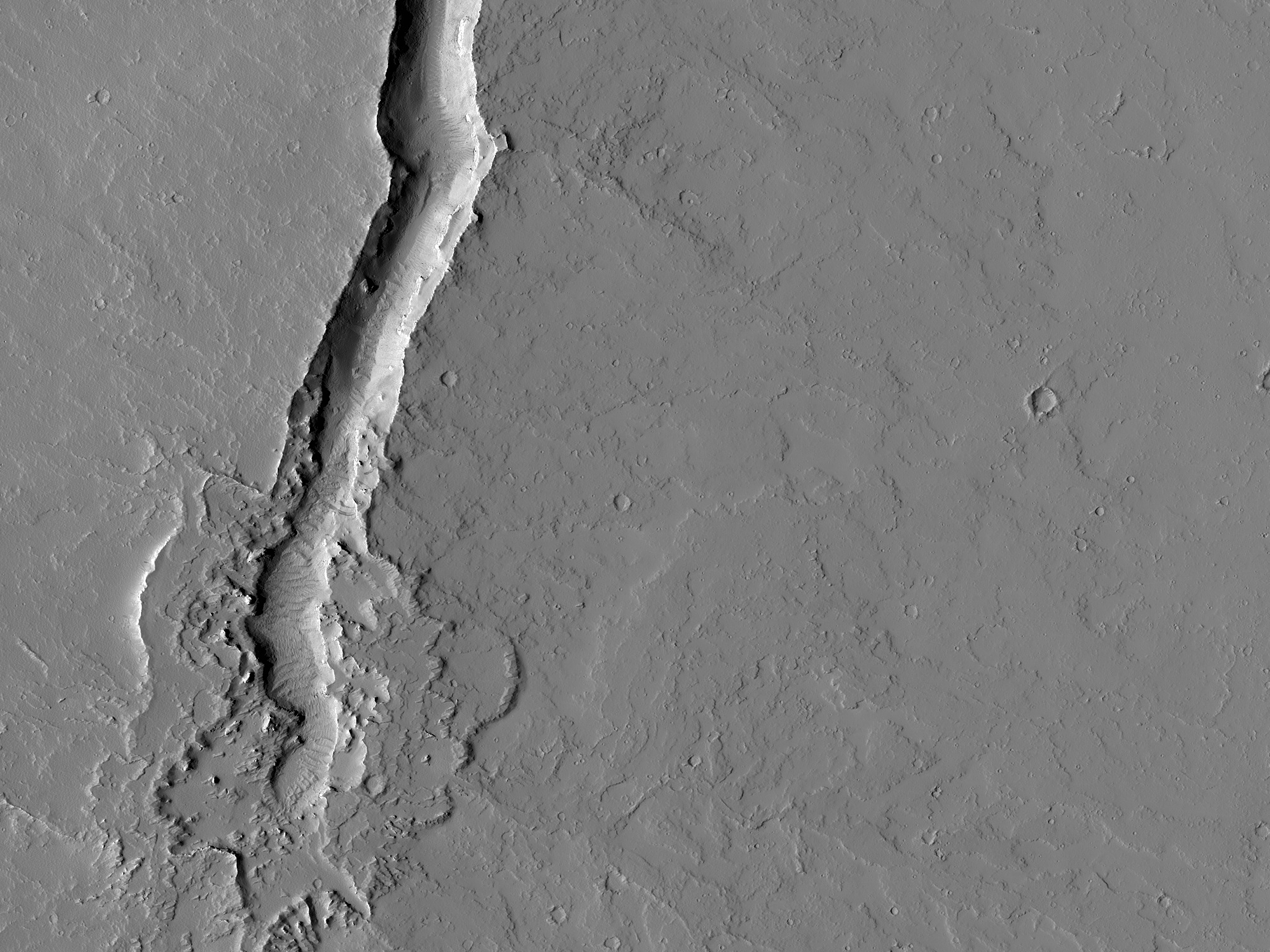 A Volcanic Vent South of Olympica Fossae