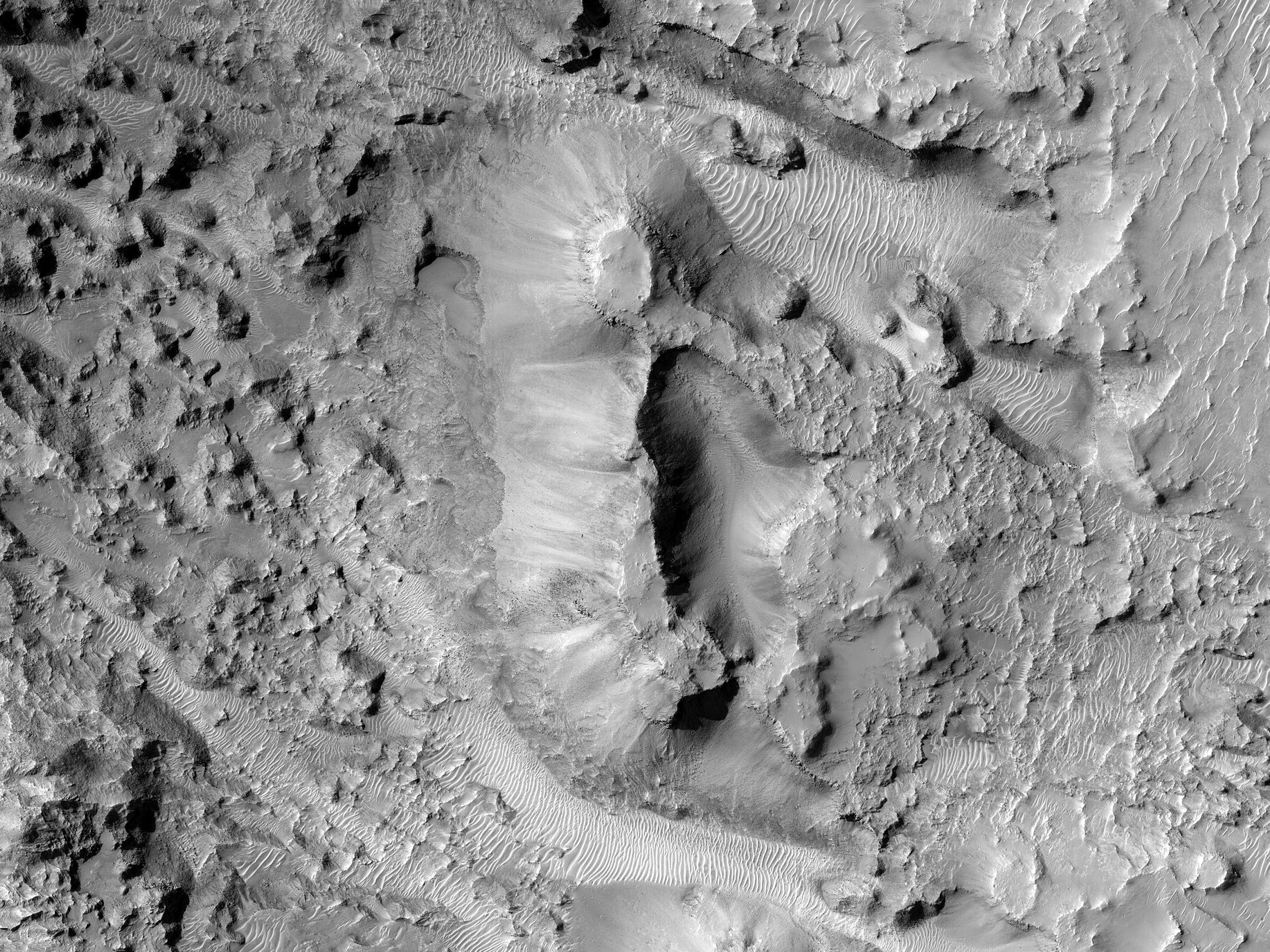 Pits on a Crater Floor