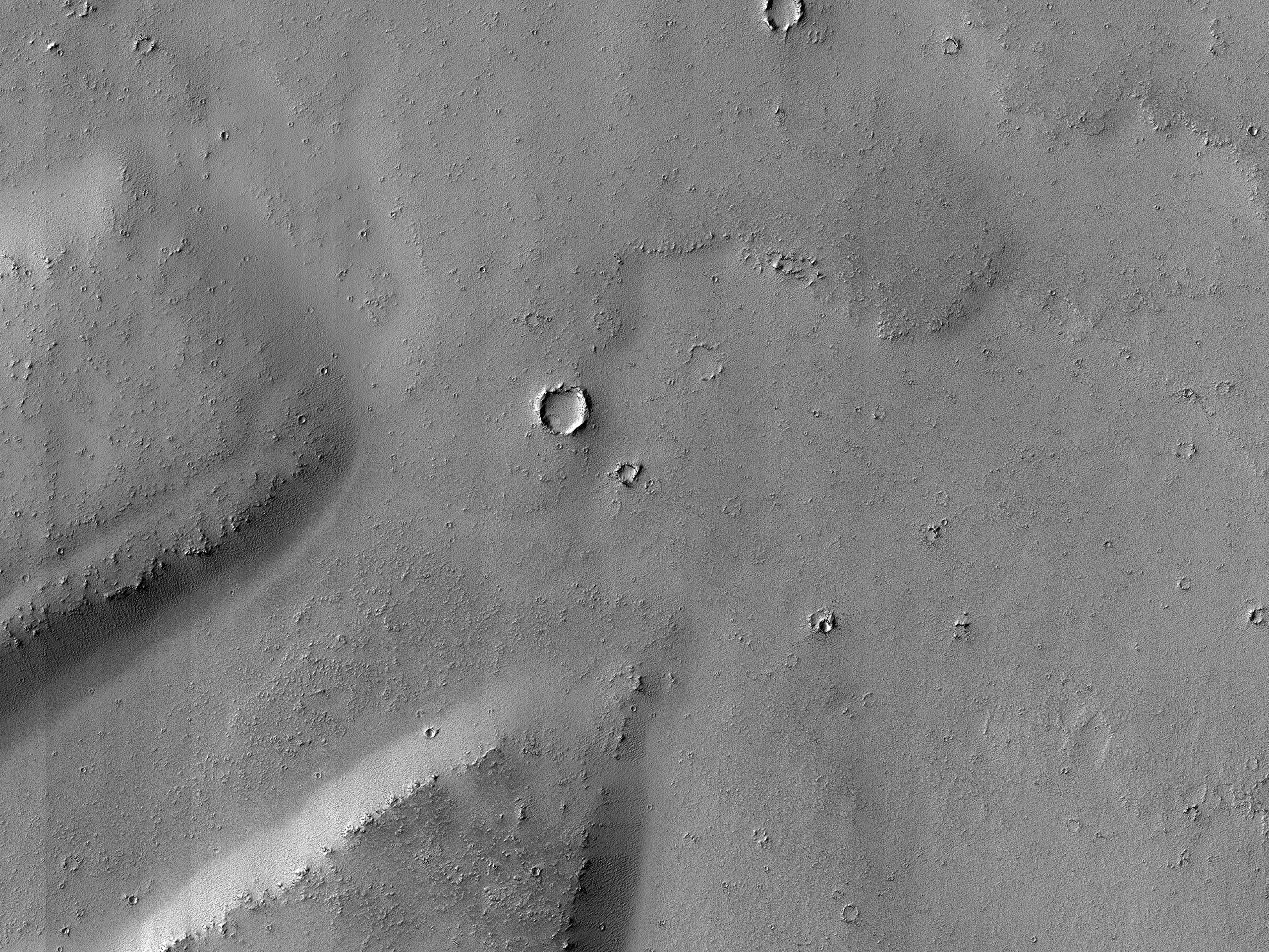 Noctis Fossae and Tharsis Region Lava Transition Area