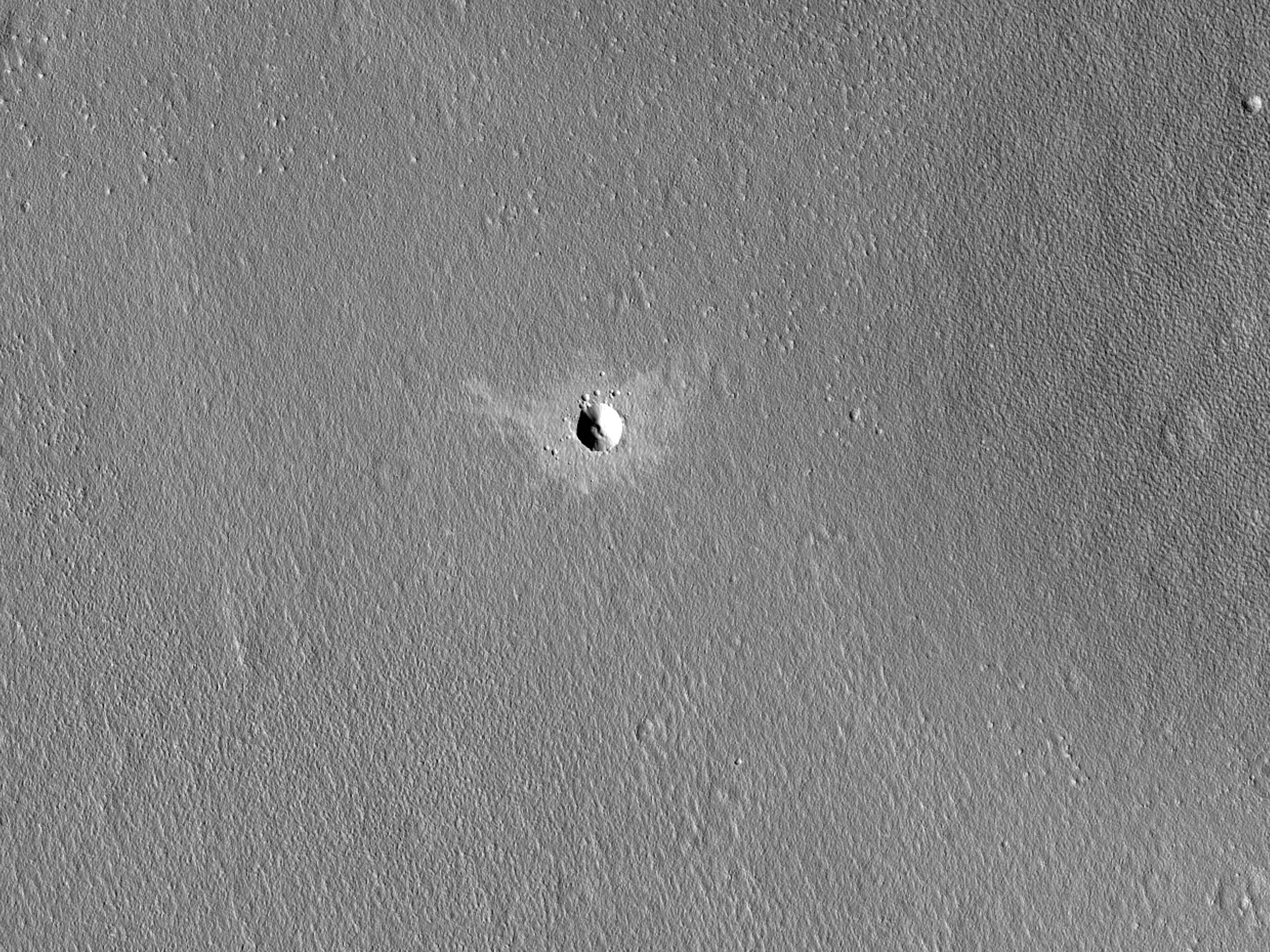 A Fresh Crater in Periglacial Terrain
