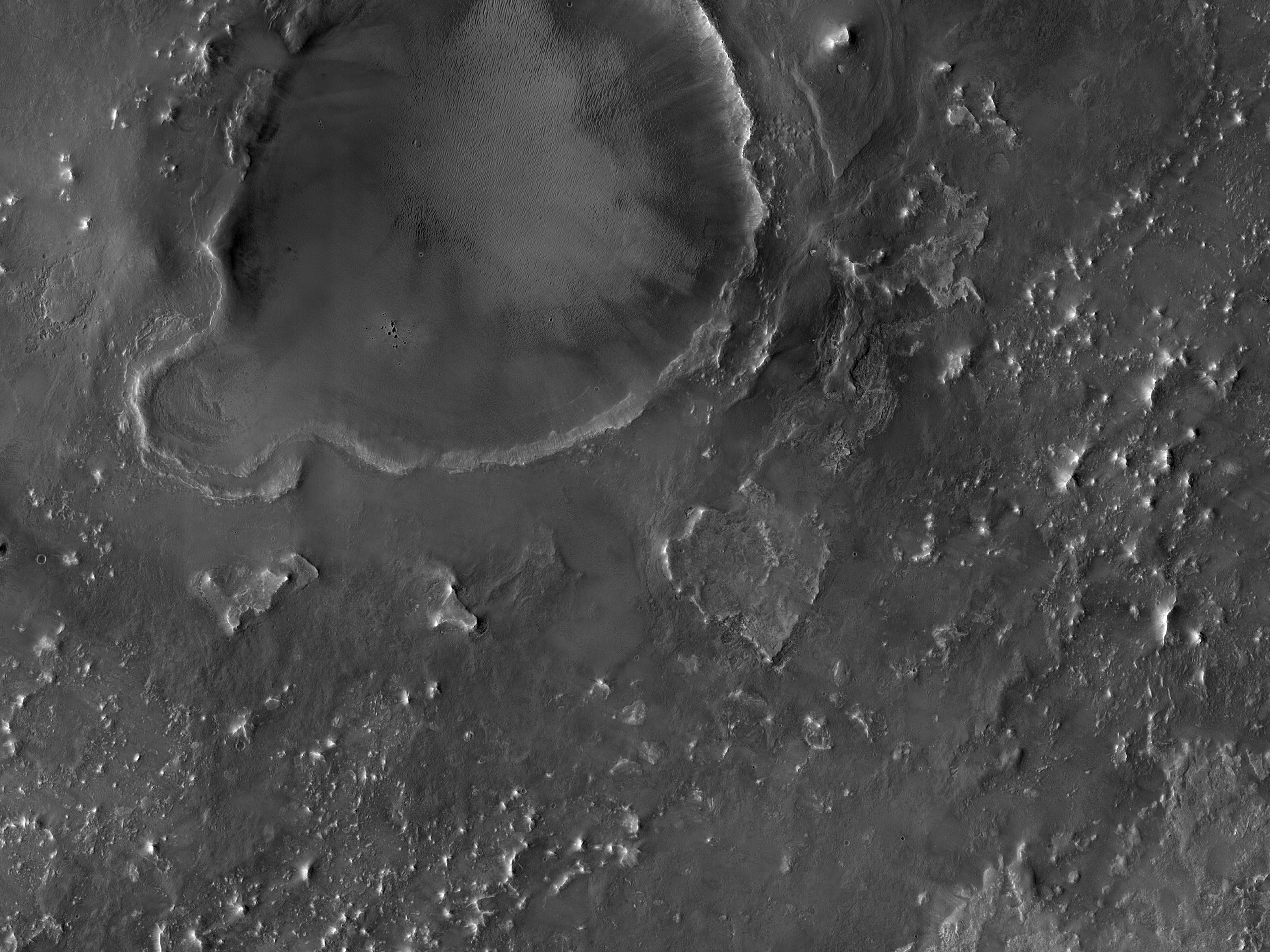On the Southeast Rim of Antoniadi Crater