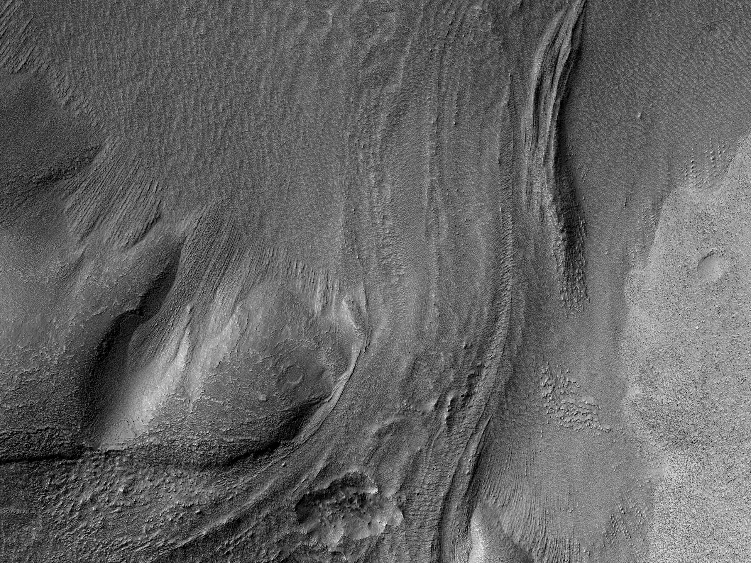 Flow to the East of Hellas Planitia