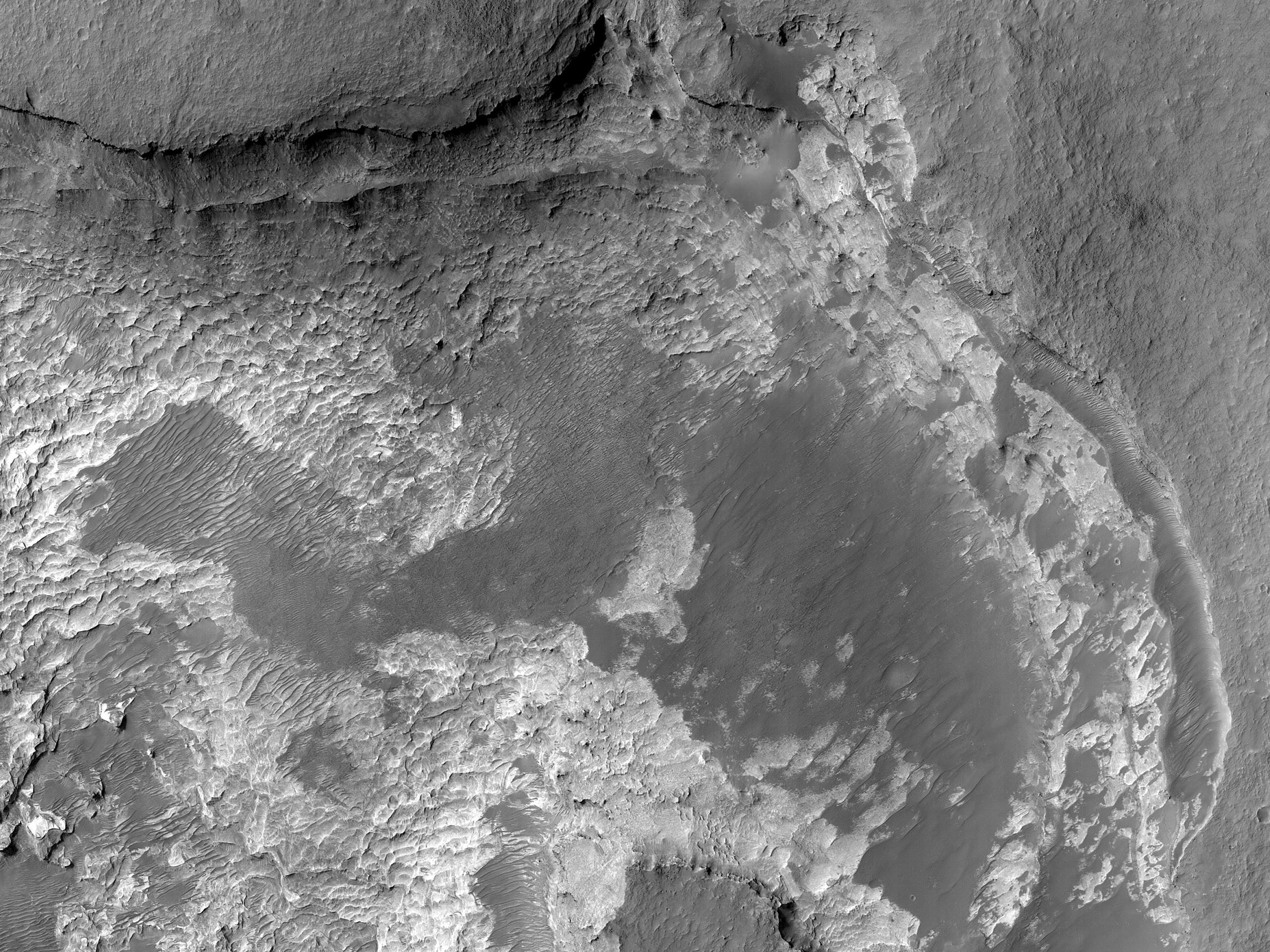 Layers in Niesten Crater