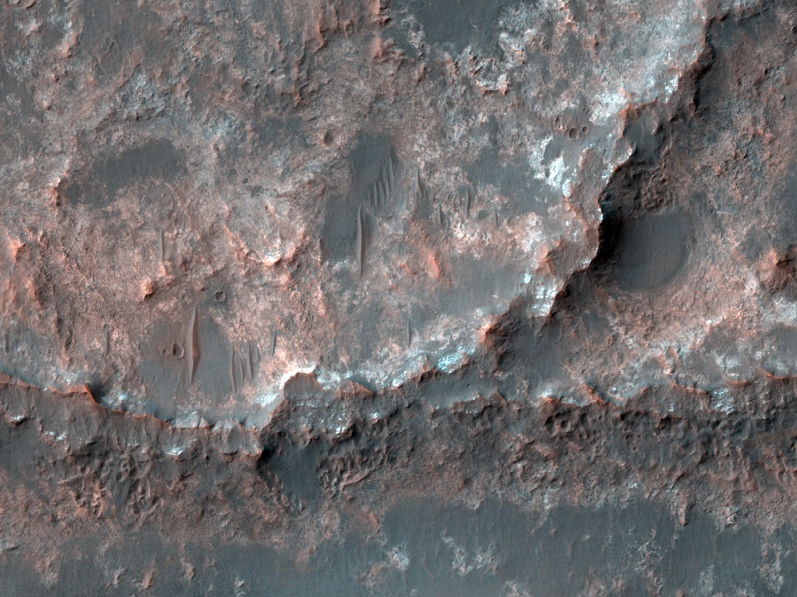 Possible Inverted Stream Channels near Mariner Crater