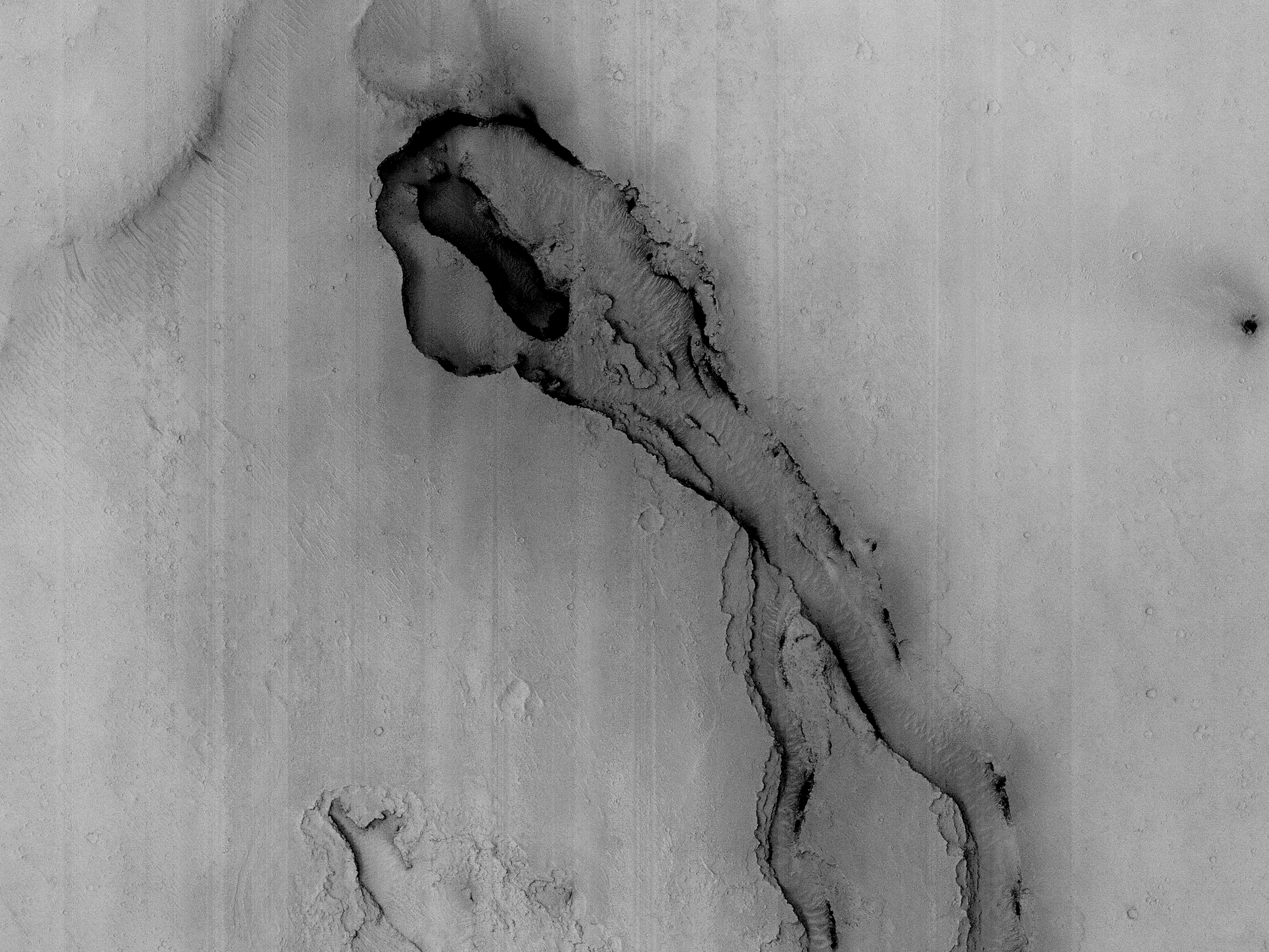 An Apparent Vent near Athabasca Valles Lava