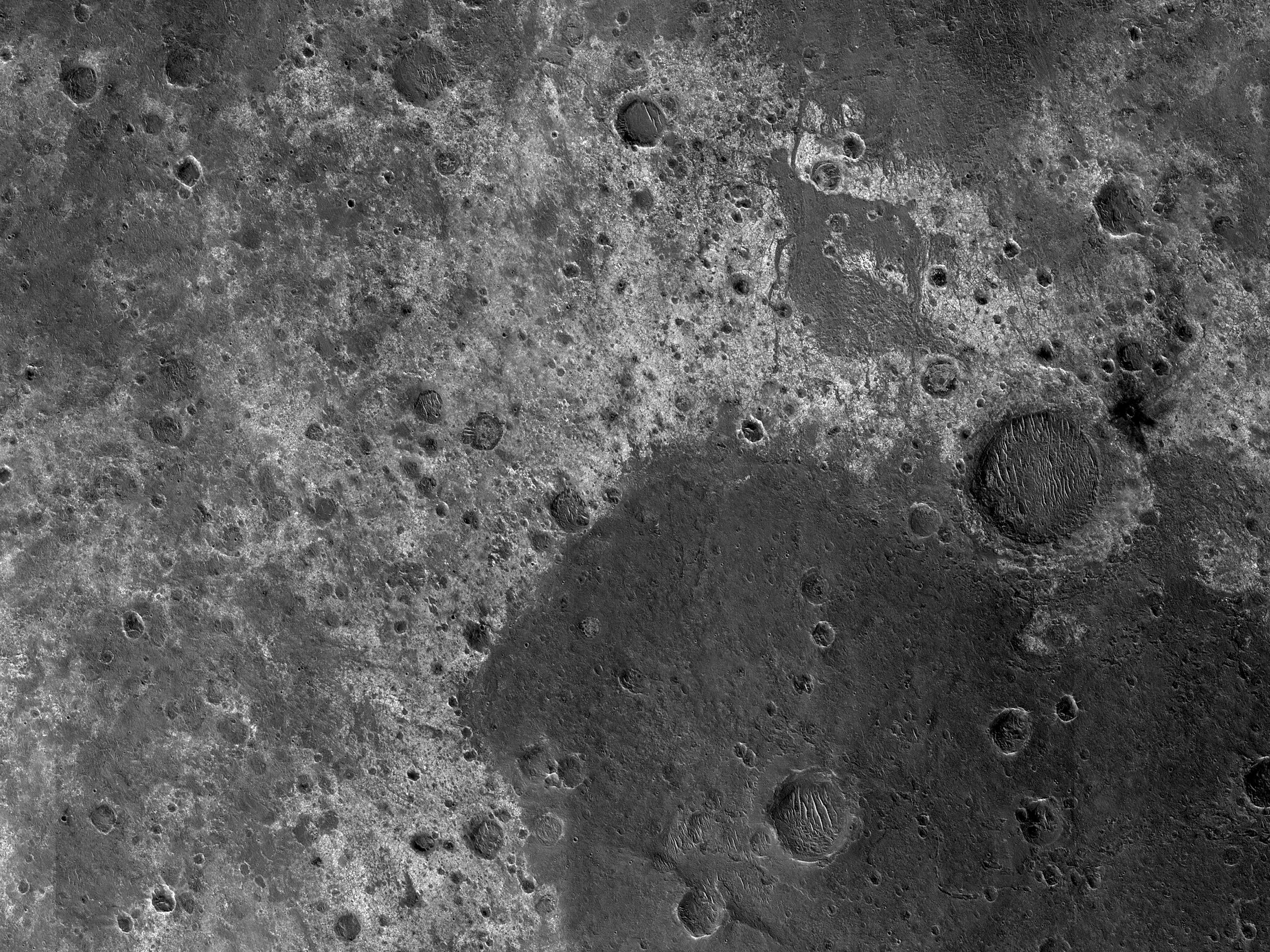 Light and Dark Units Southwest of Eos Chasma
