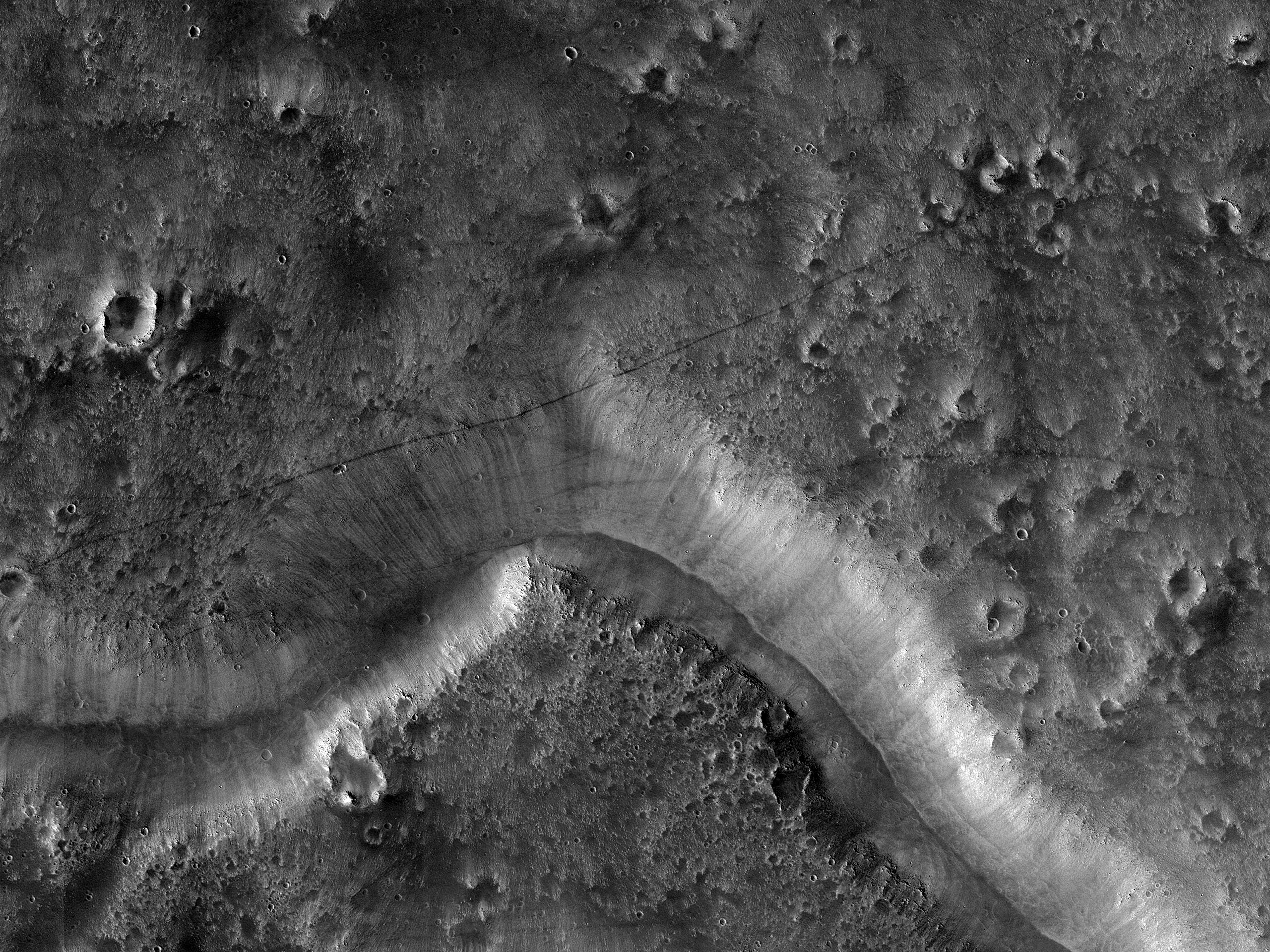 Daedalia Planum Albedo Pattern and Wind Streak Monitoring Site