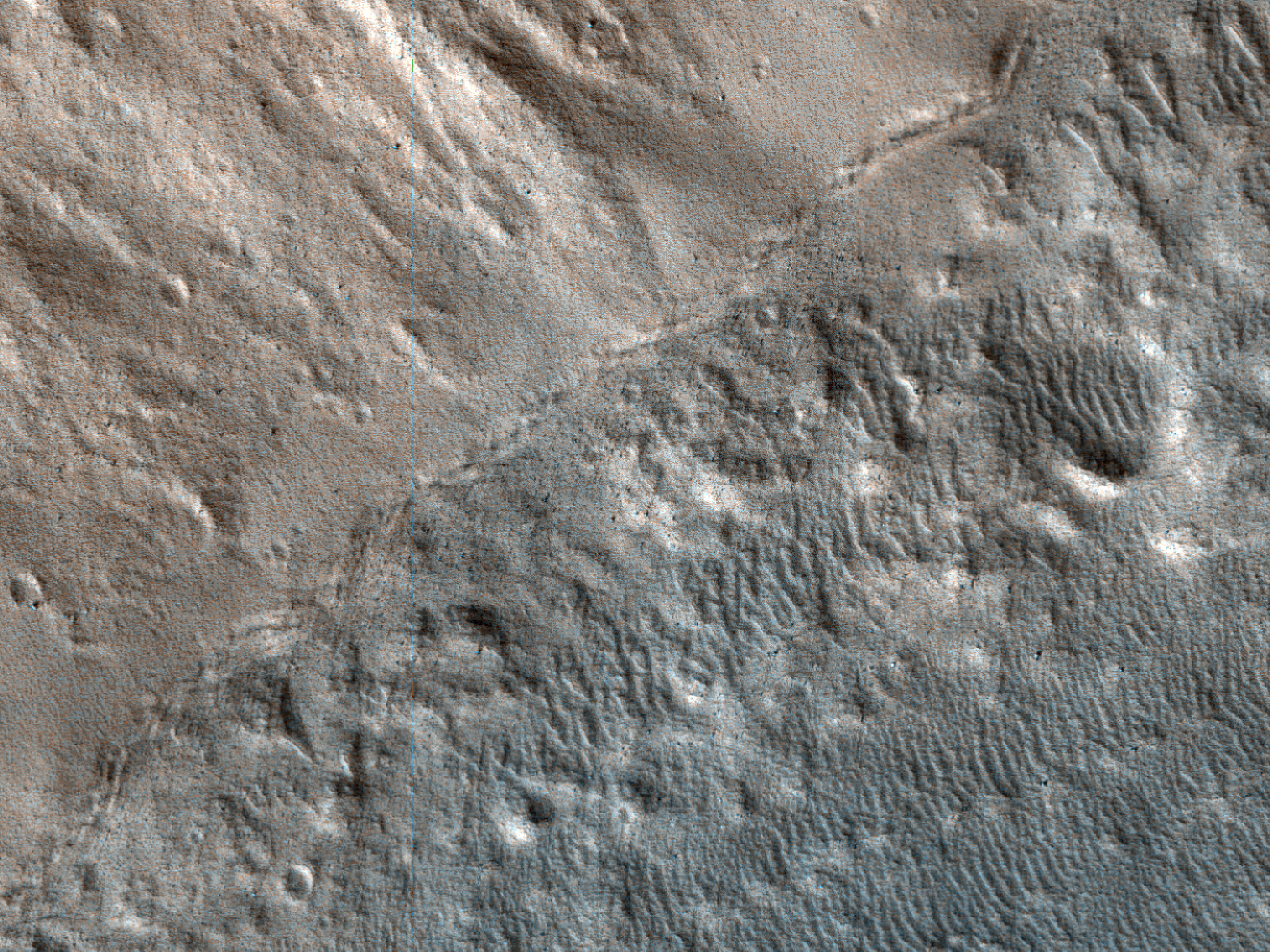 Trough Wall in Tempe Terra