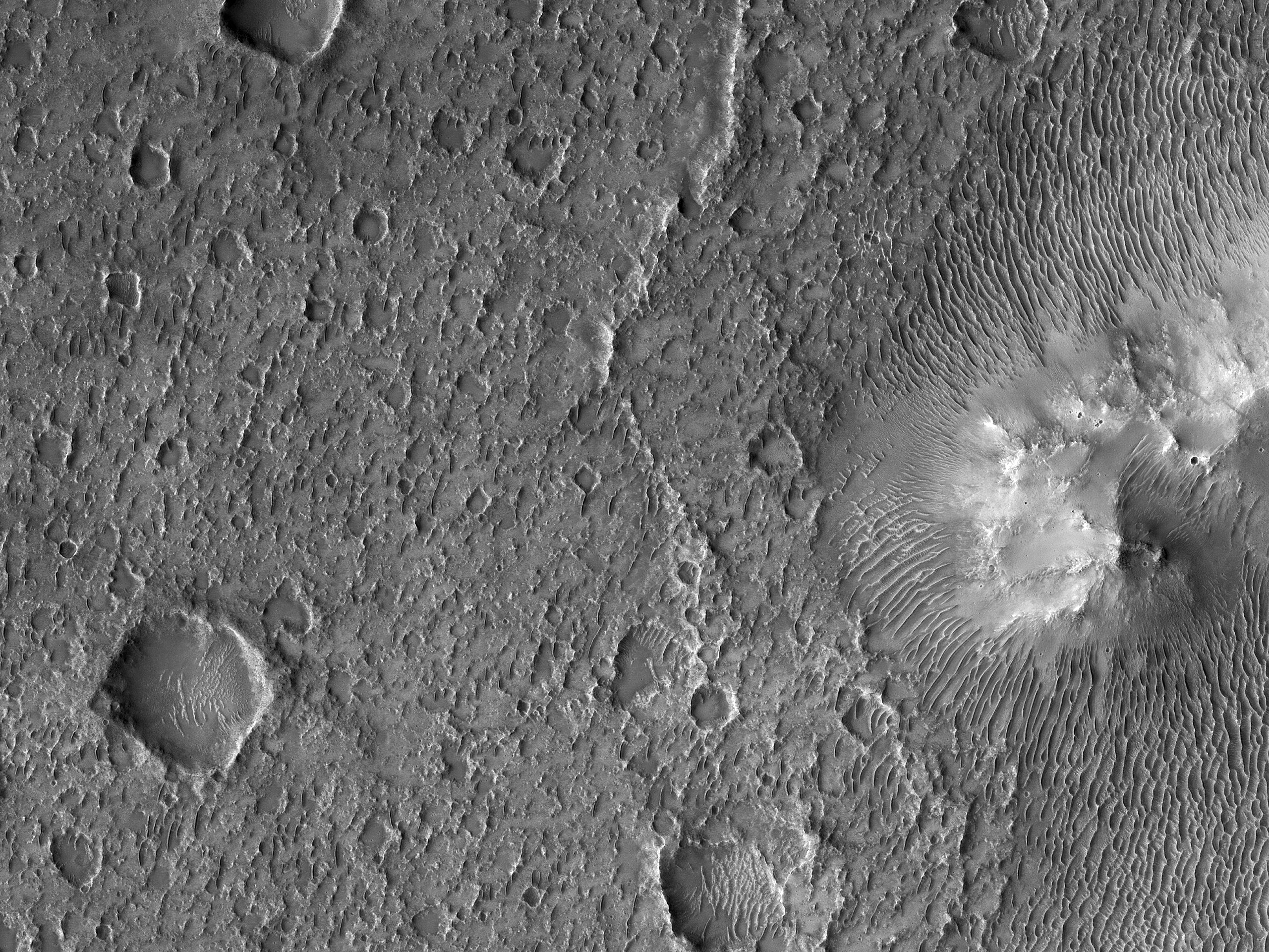 Floor of Flaugergues Crater