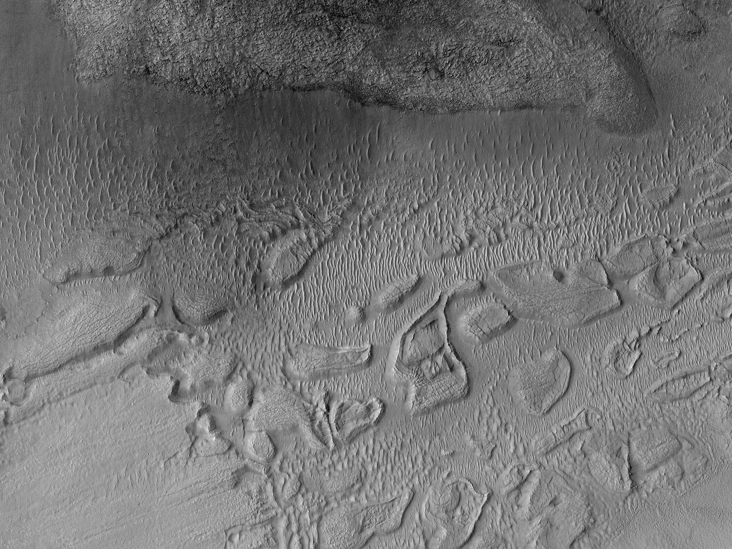 An Outflow Feature near Mafra Crater