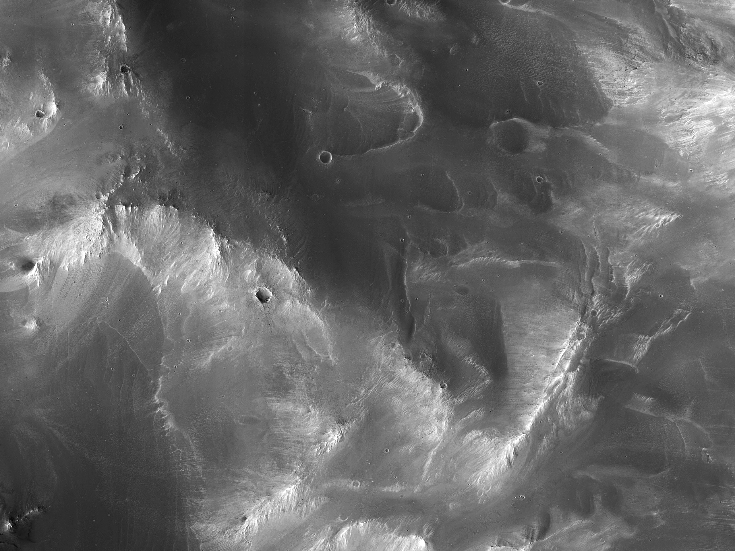 A Crater in Syrtis Major Planum