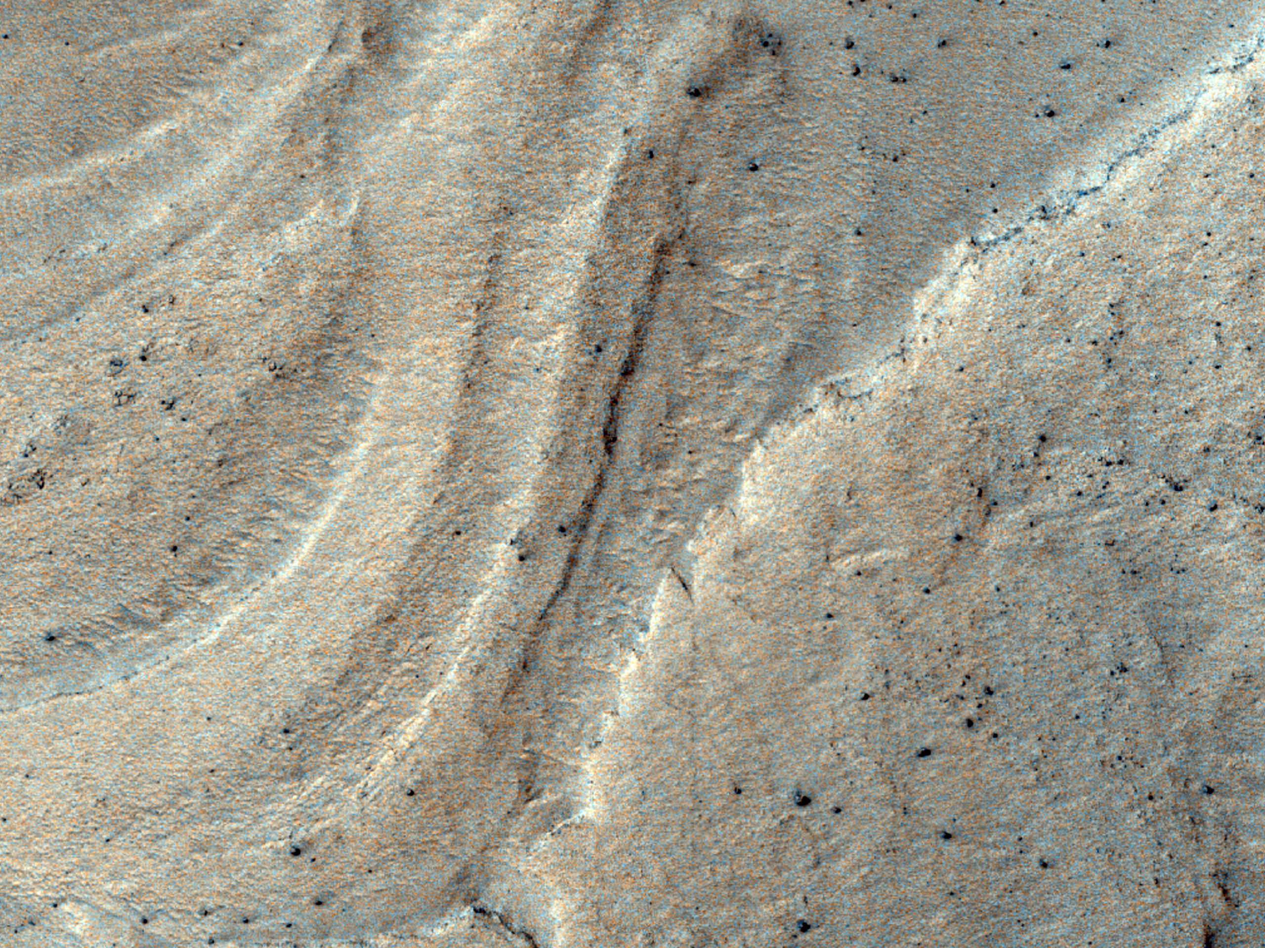 Layers or Bands in Southern Hellas Planitia