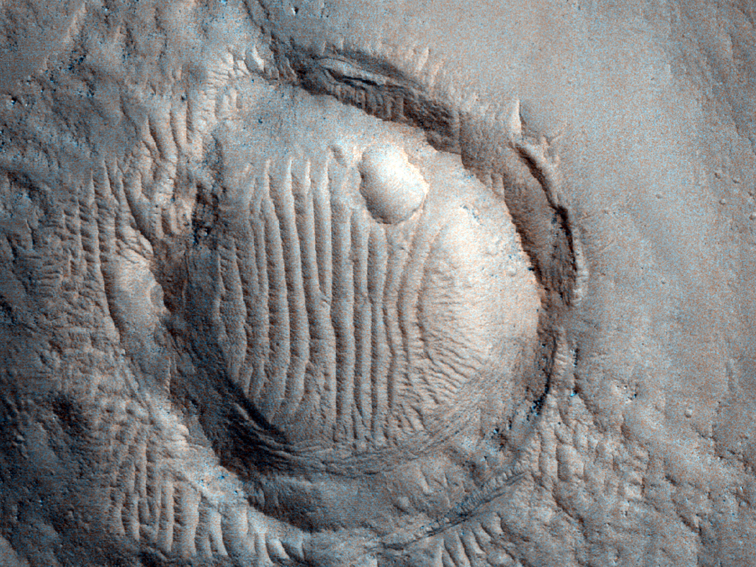 Thermally Anomalous Crater on Hrad Vallis Flow