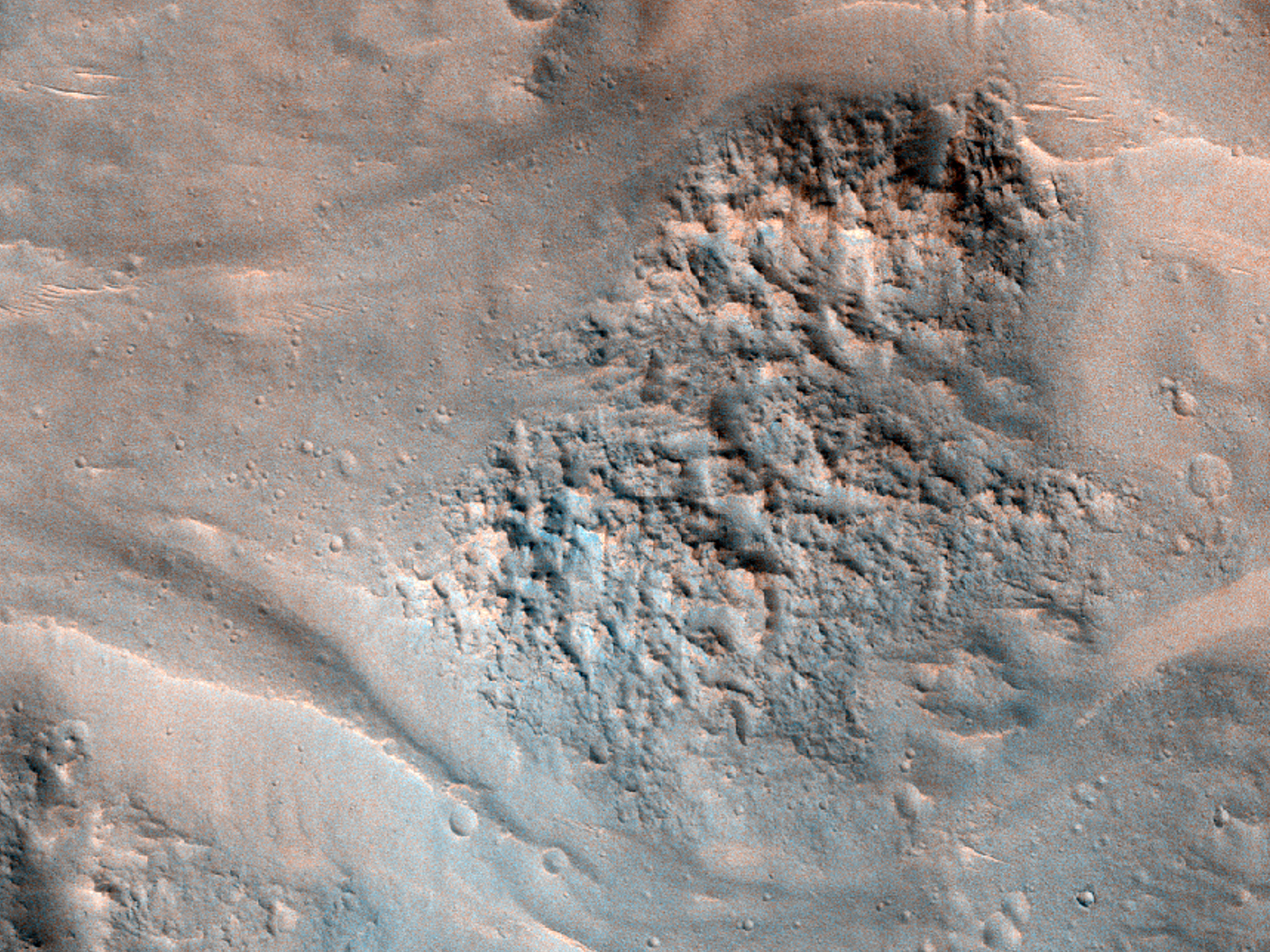 Flows in Crater near Amenthes Region