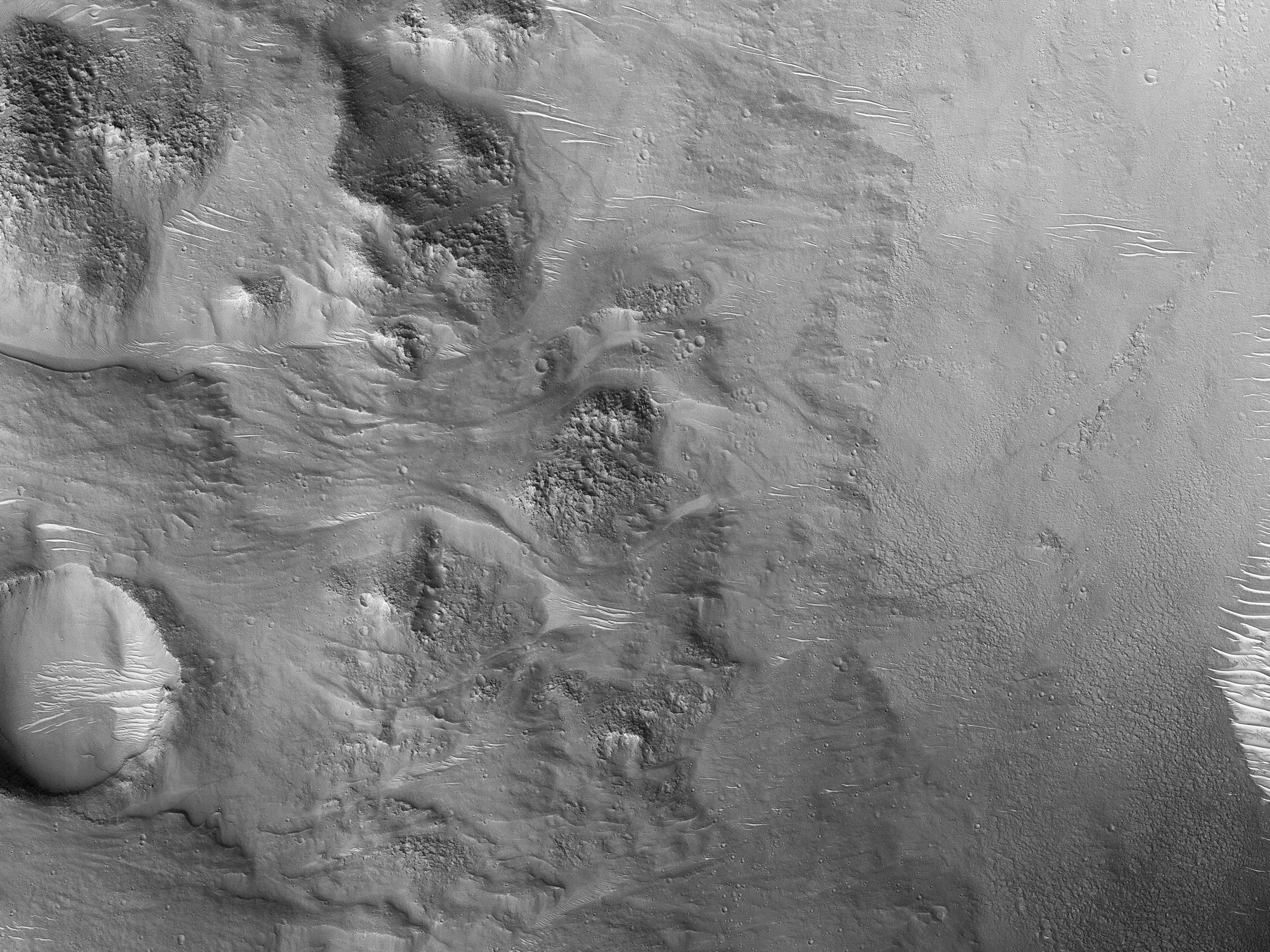 Flows in a Crater