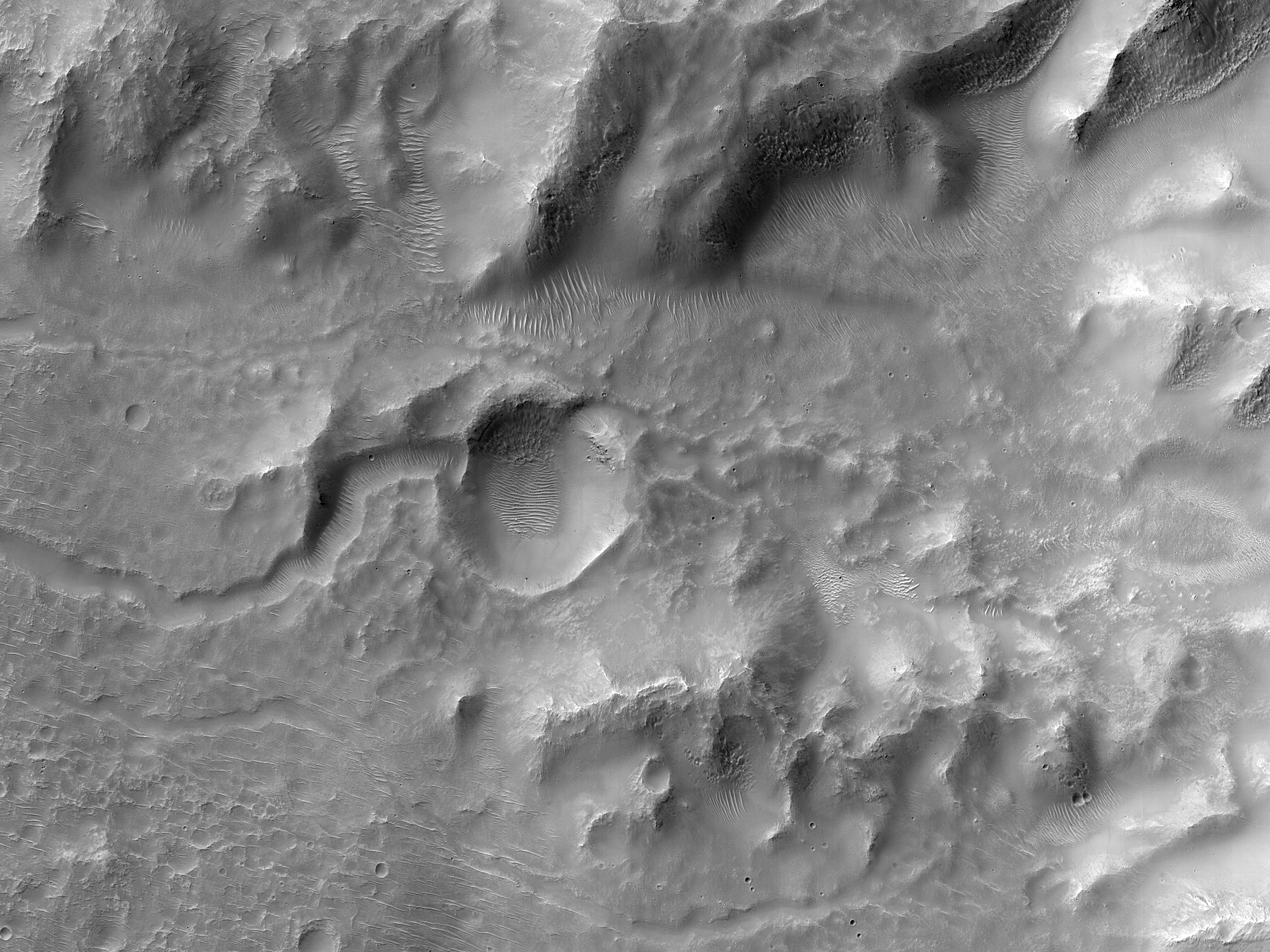A Small Crater Northeast of Hellas Planitia