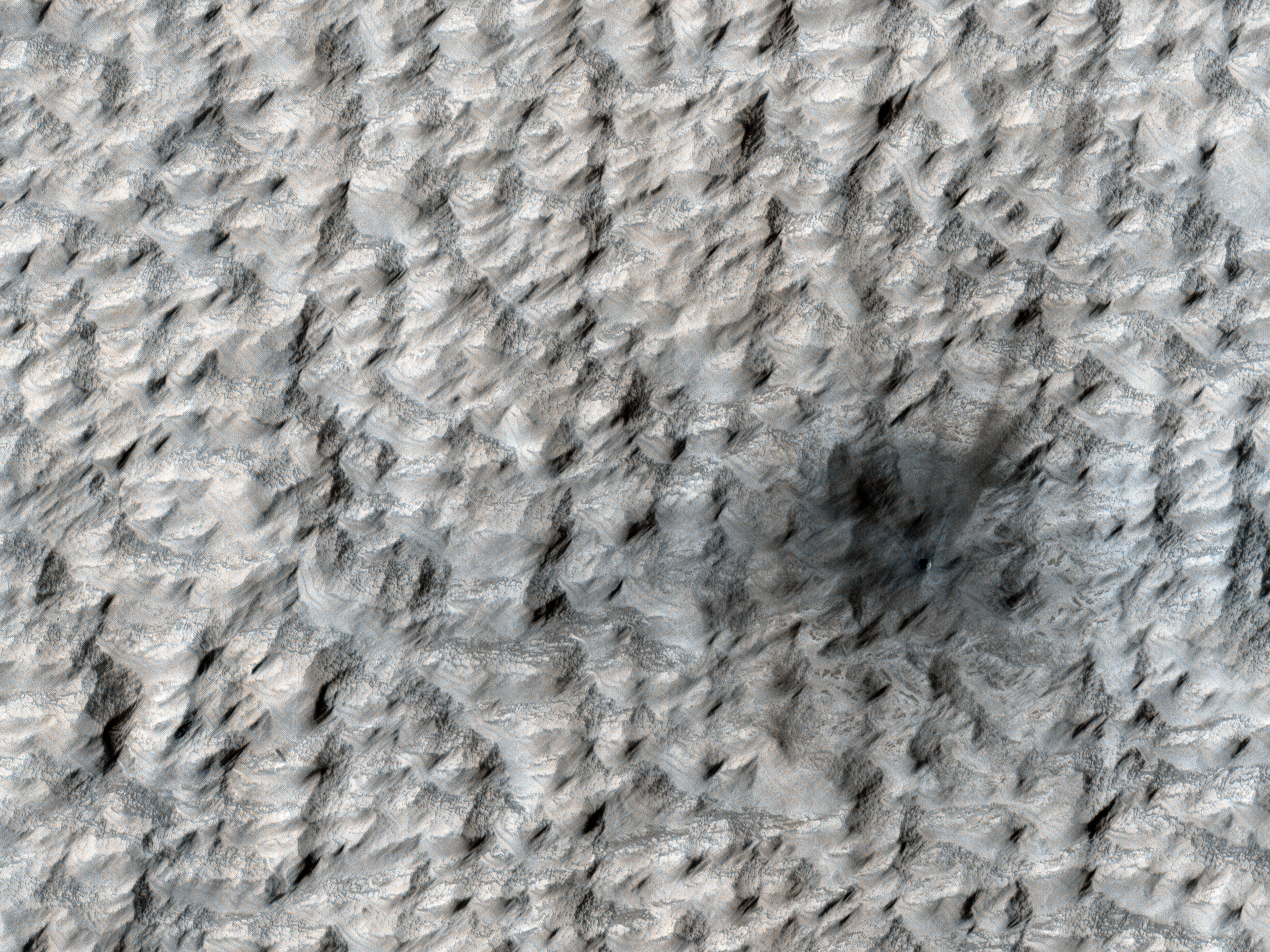 A New Crater on Mars
