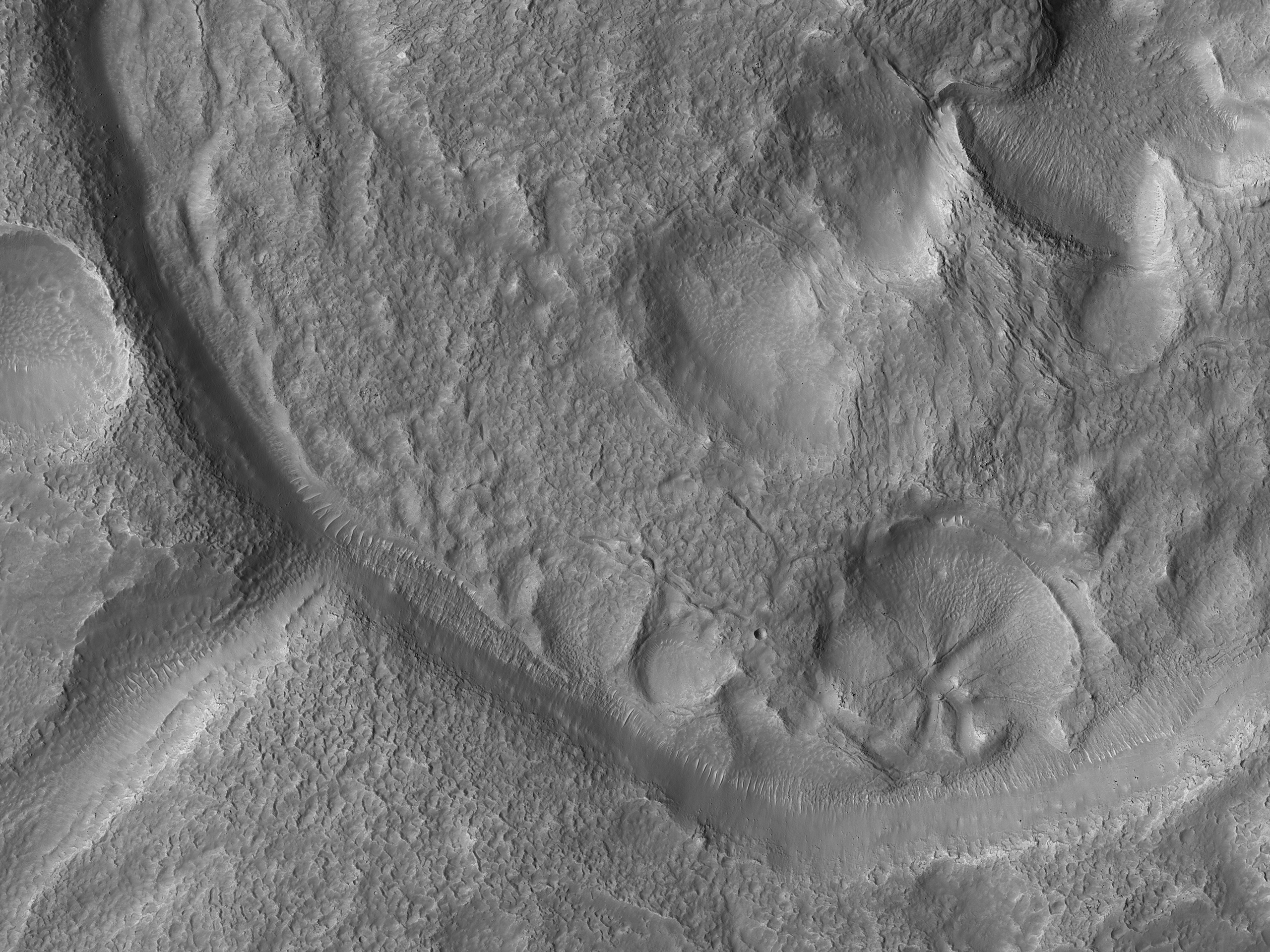 Pollywog Craters on Mars