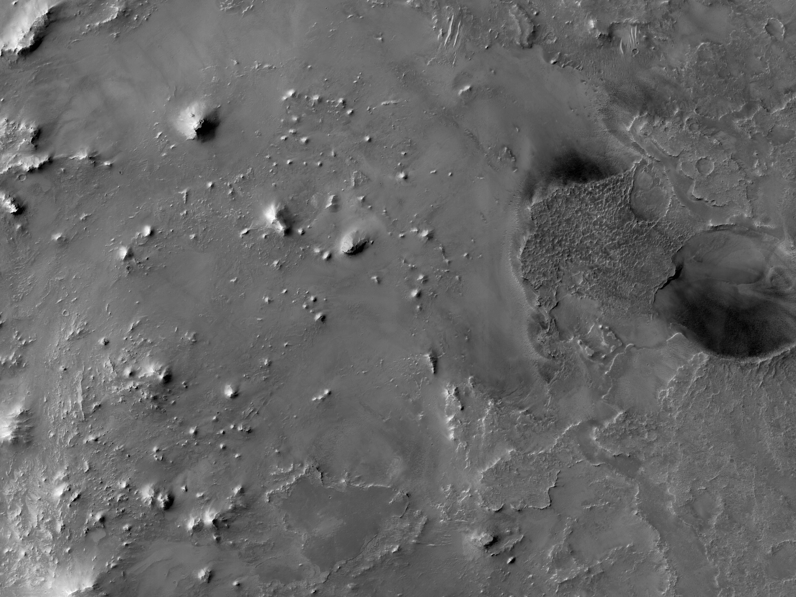 Mounds in Ejecta
