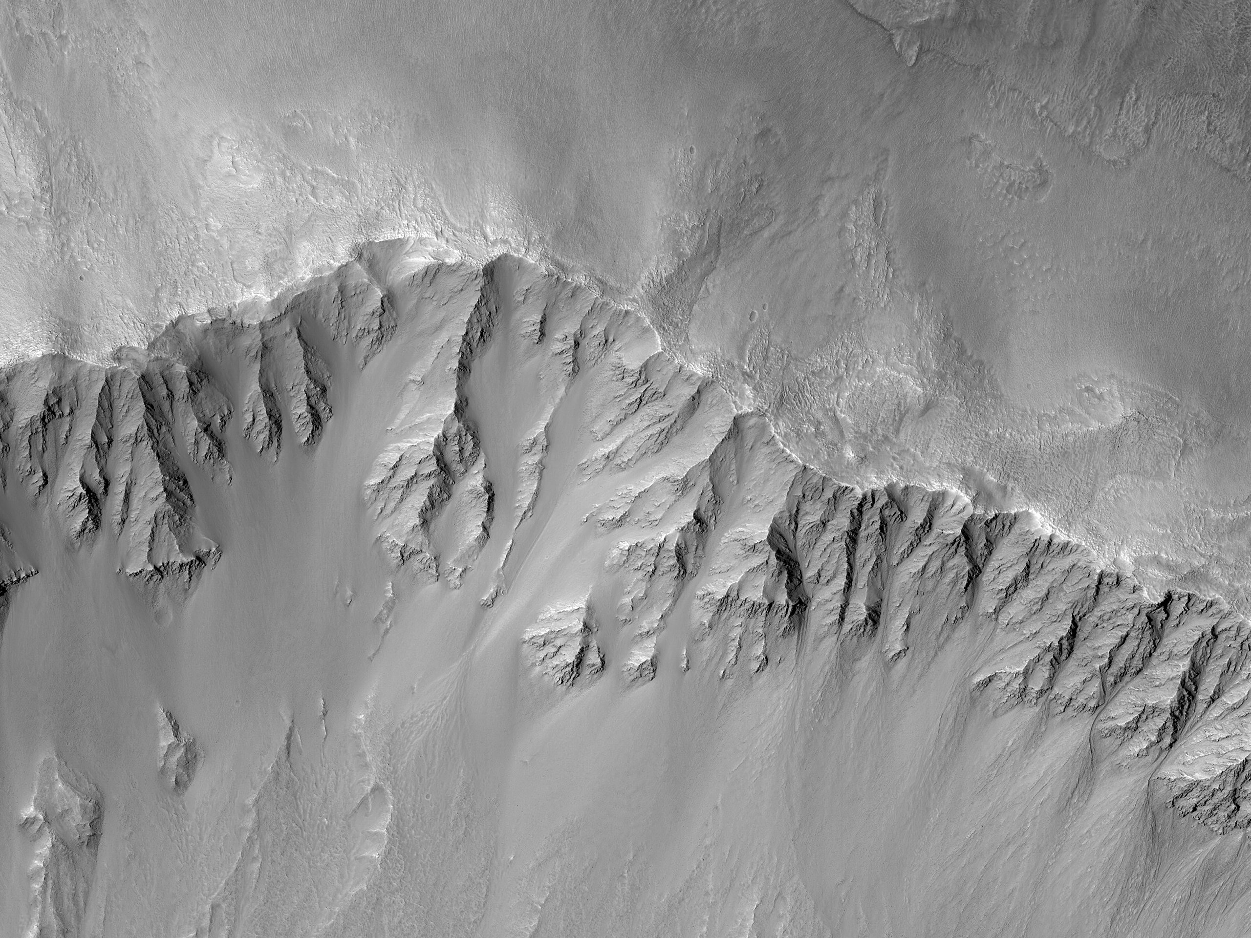 The Slope of Arandas Crater