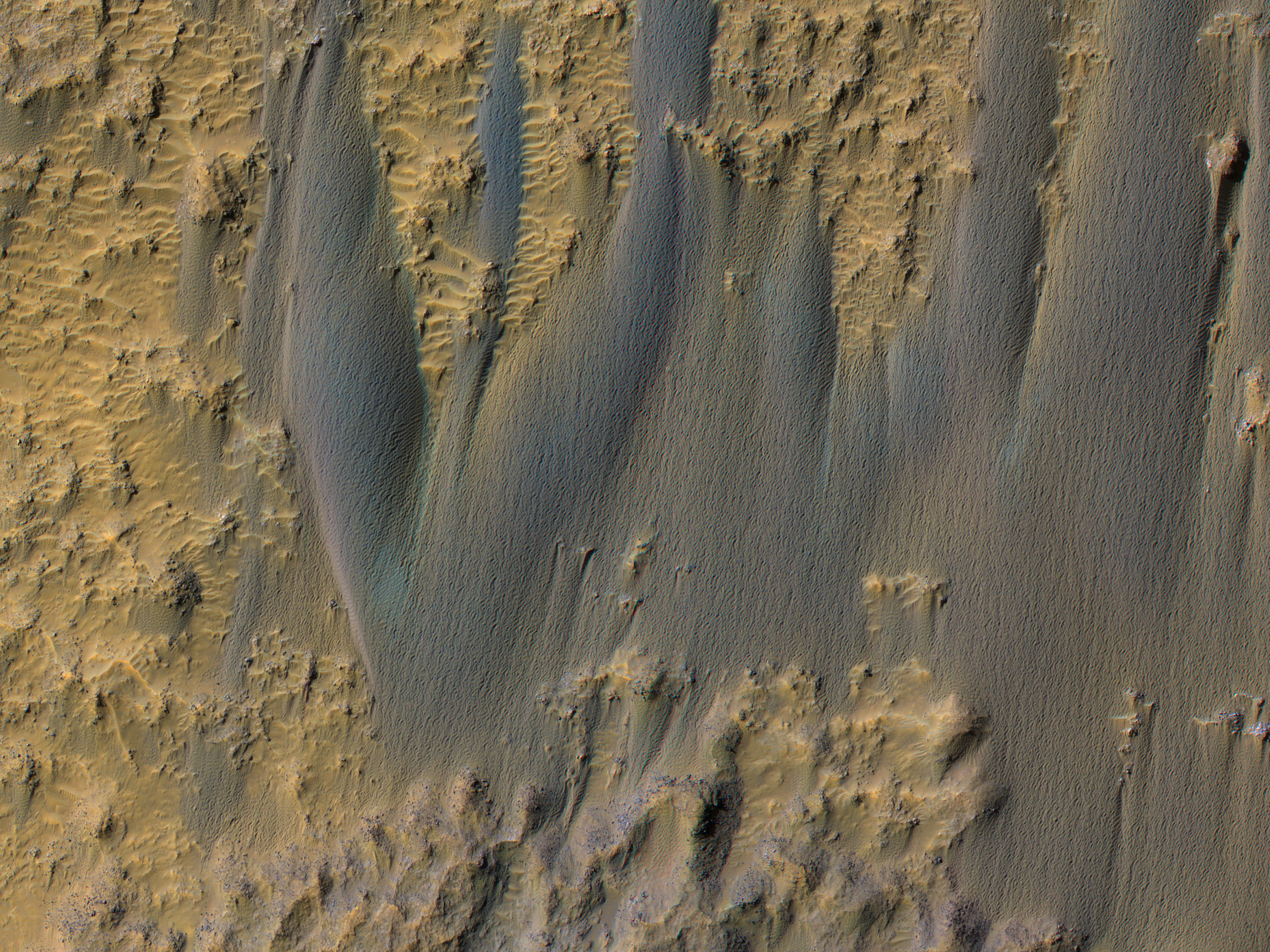 Dunes in Briault Crater