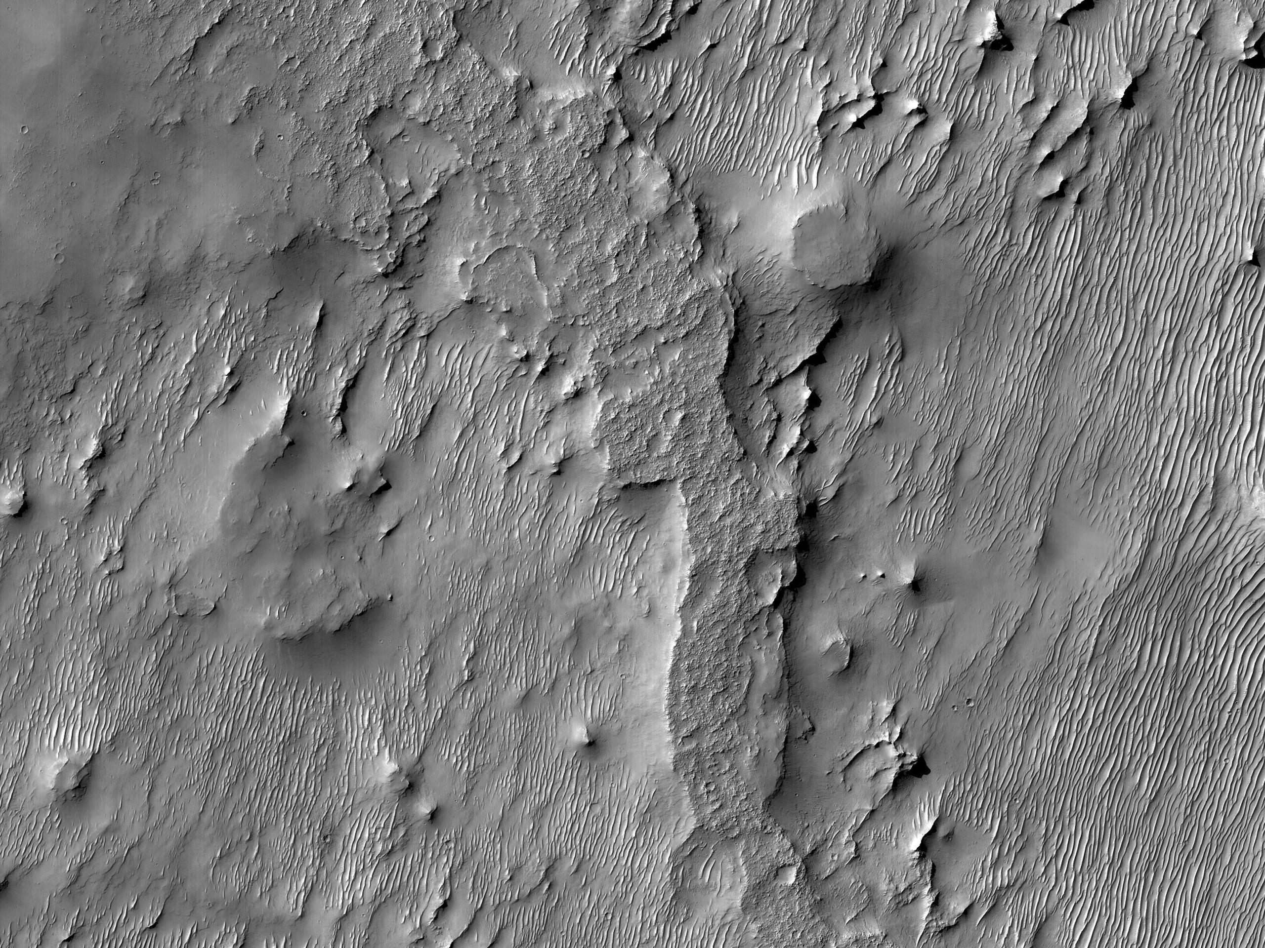 The Flattops of Mars