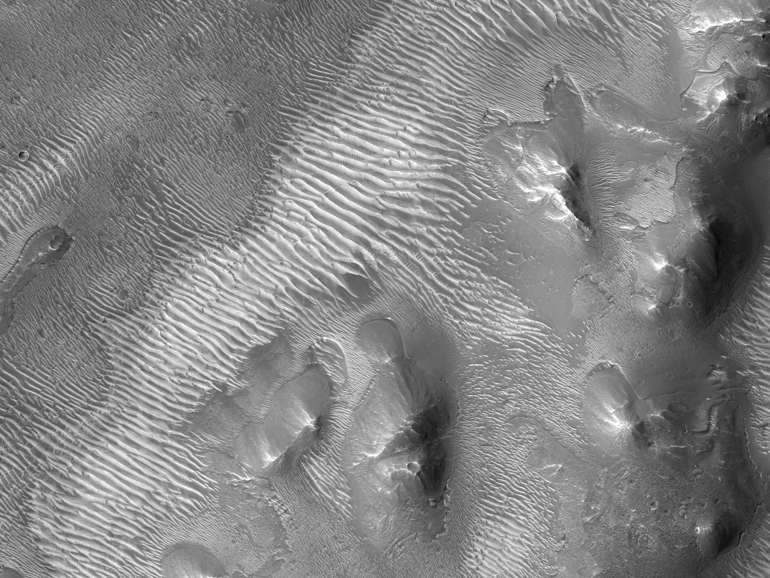 Possible Crater-Related Deposits North of Oudemans Crater