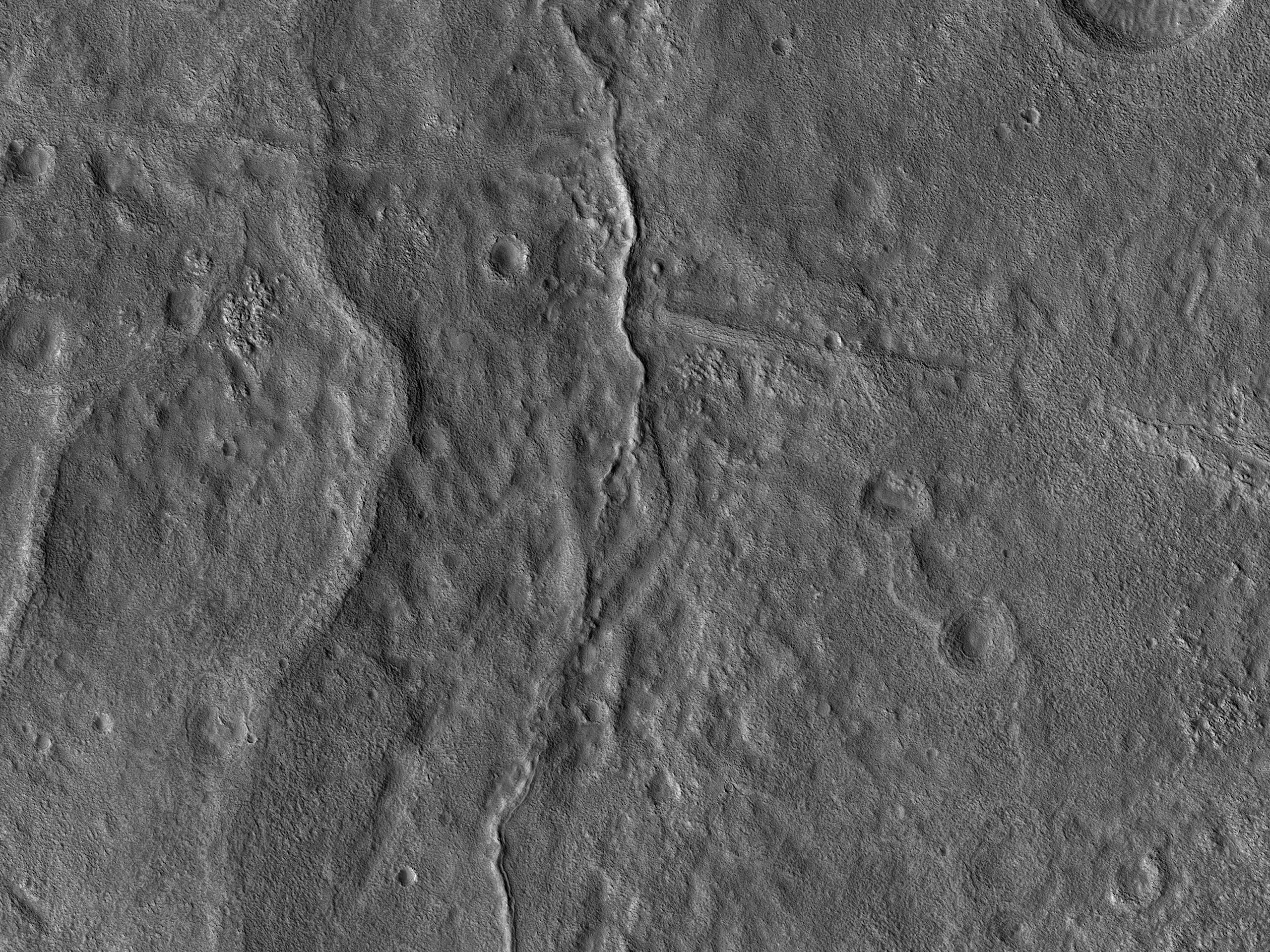Cross-Cutting Ridges in Tempe Terra