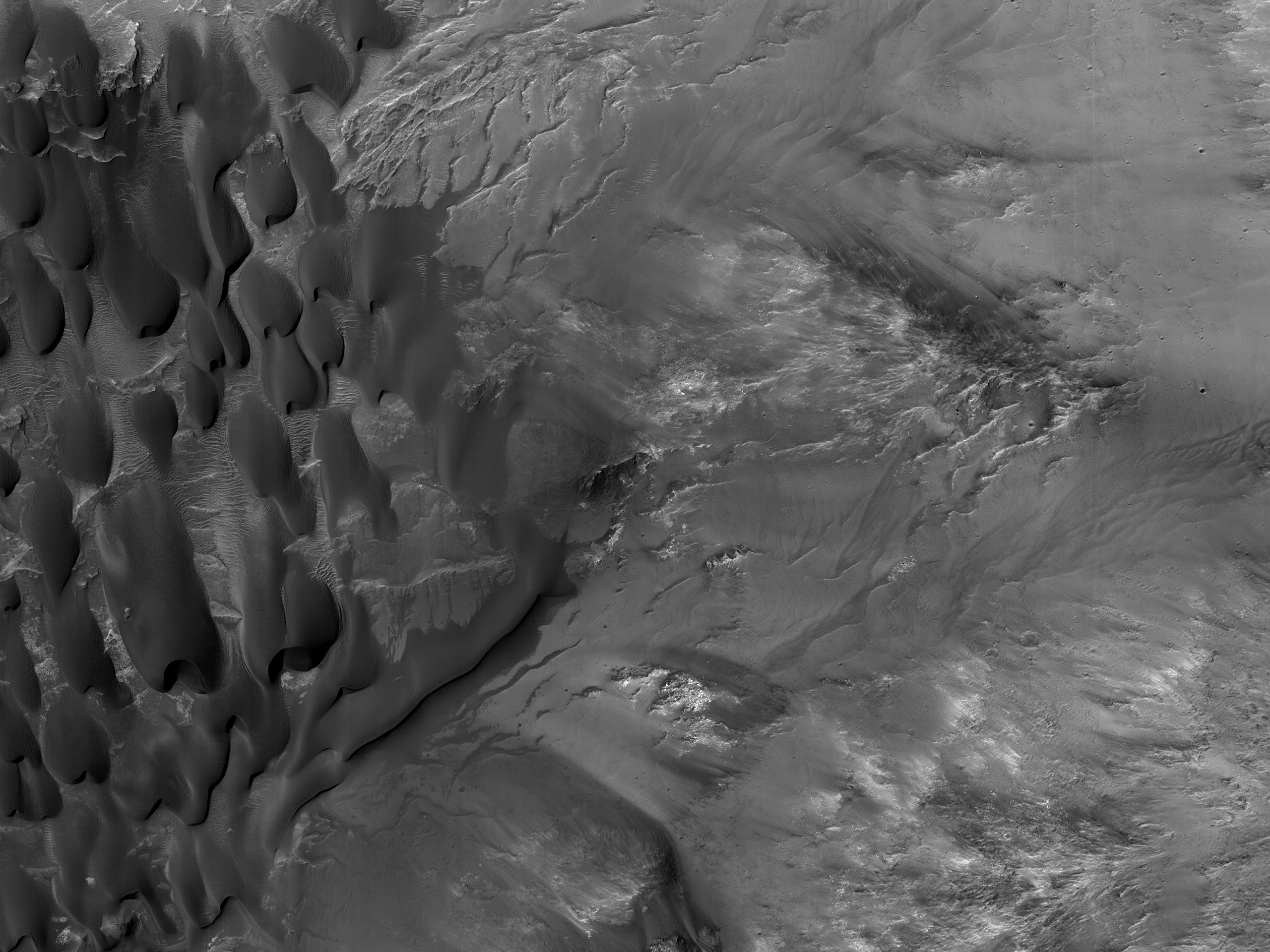 Dulovo Crater Region Barchan Dunes