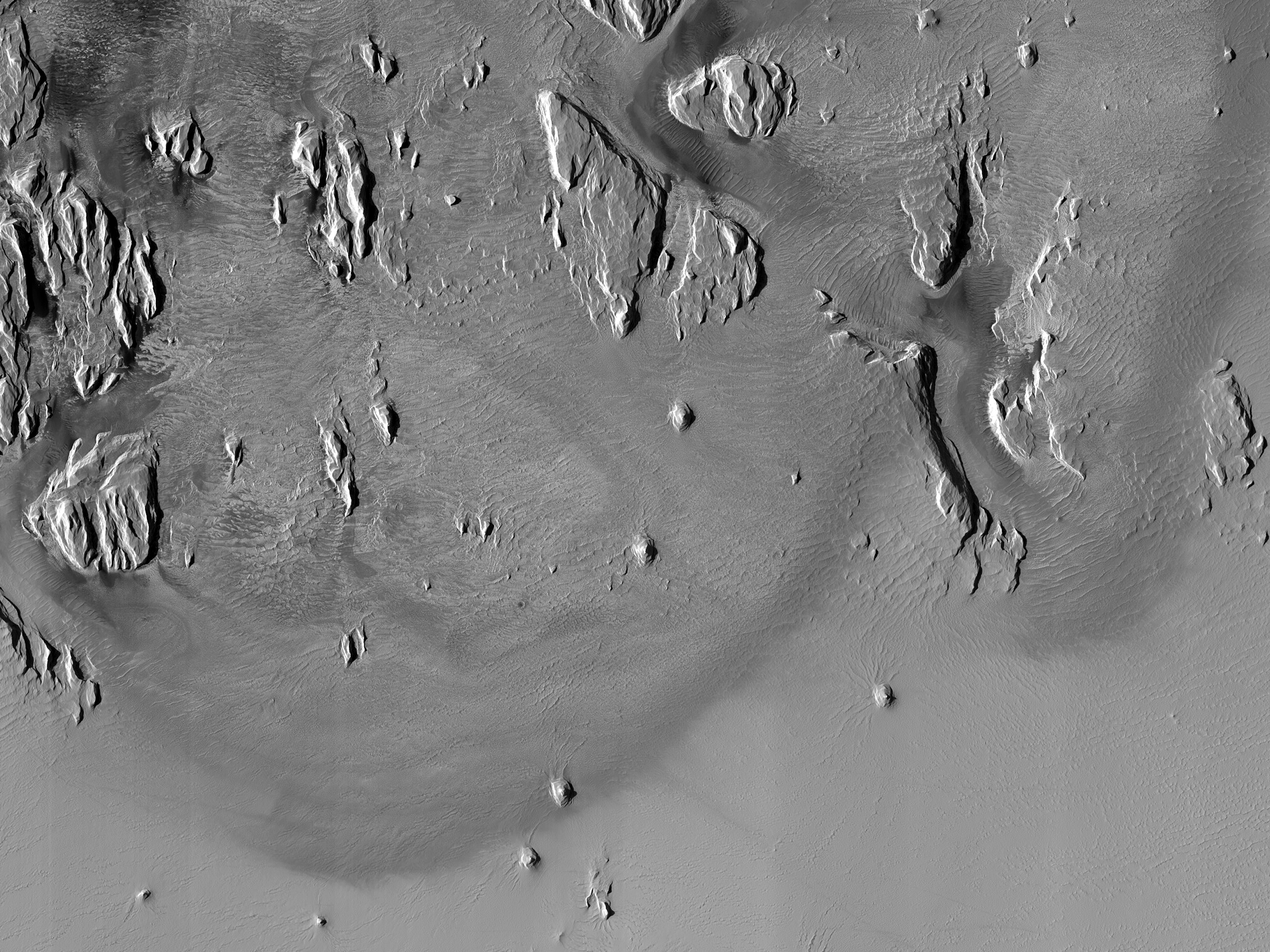 Changing Dust Boundary on Olympus Maculae