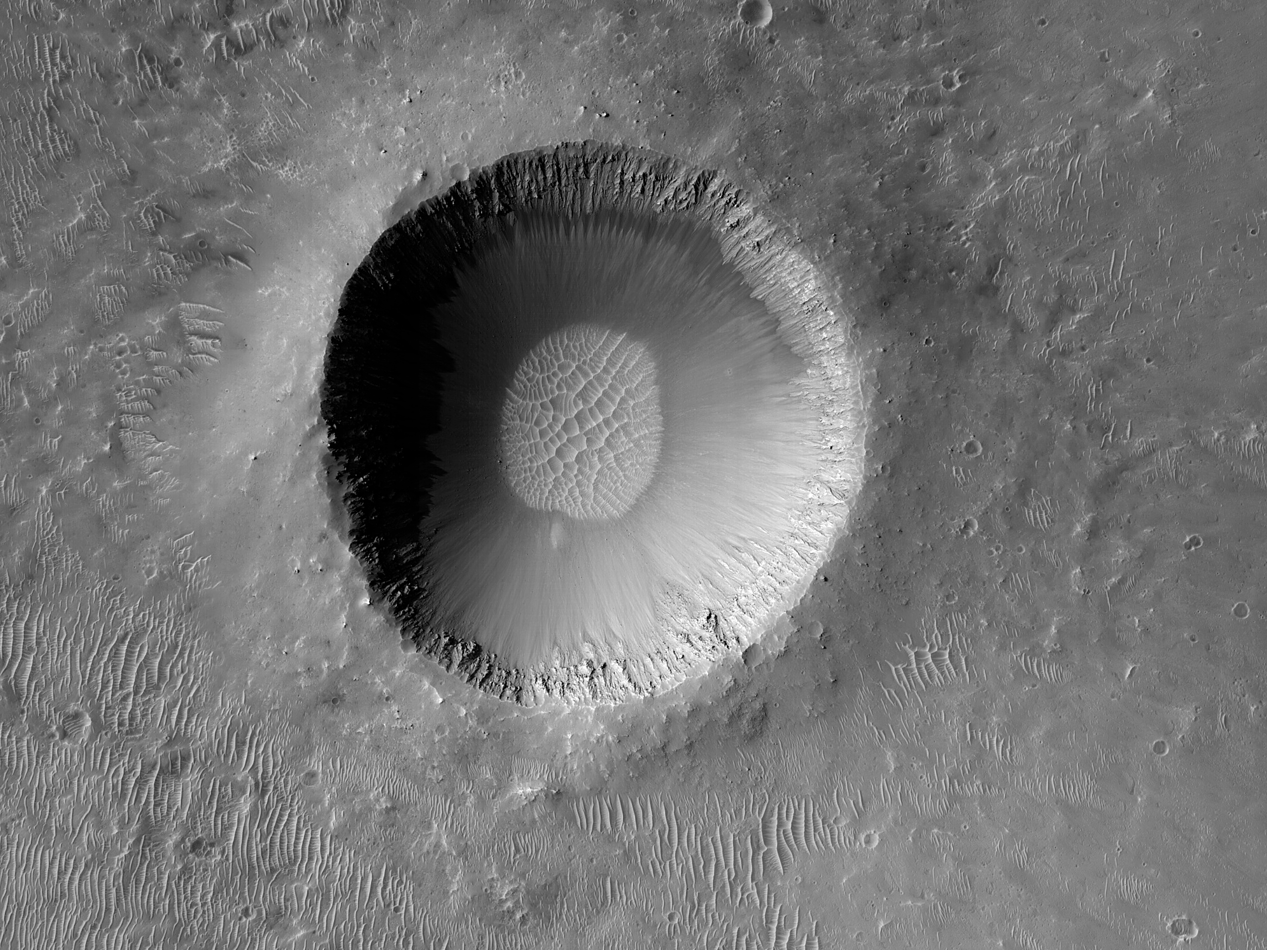 A Crater with Steep Slopes