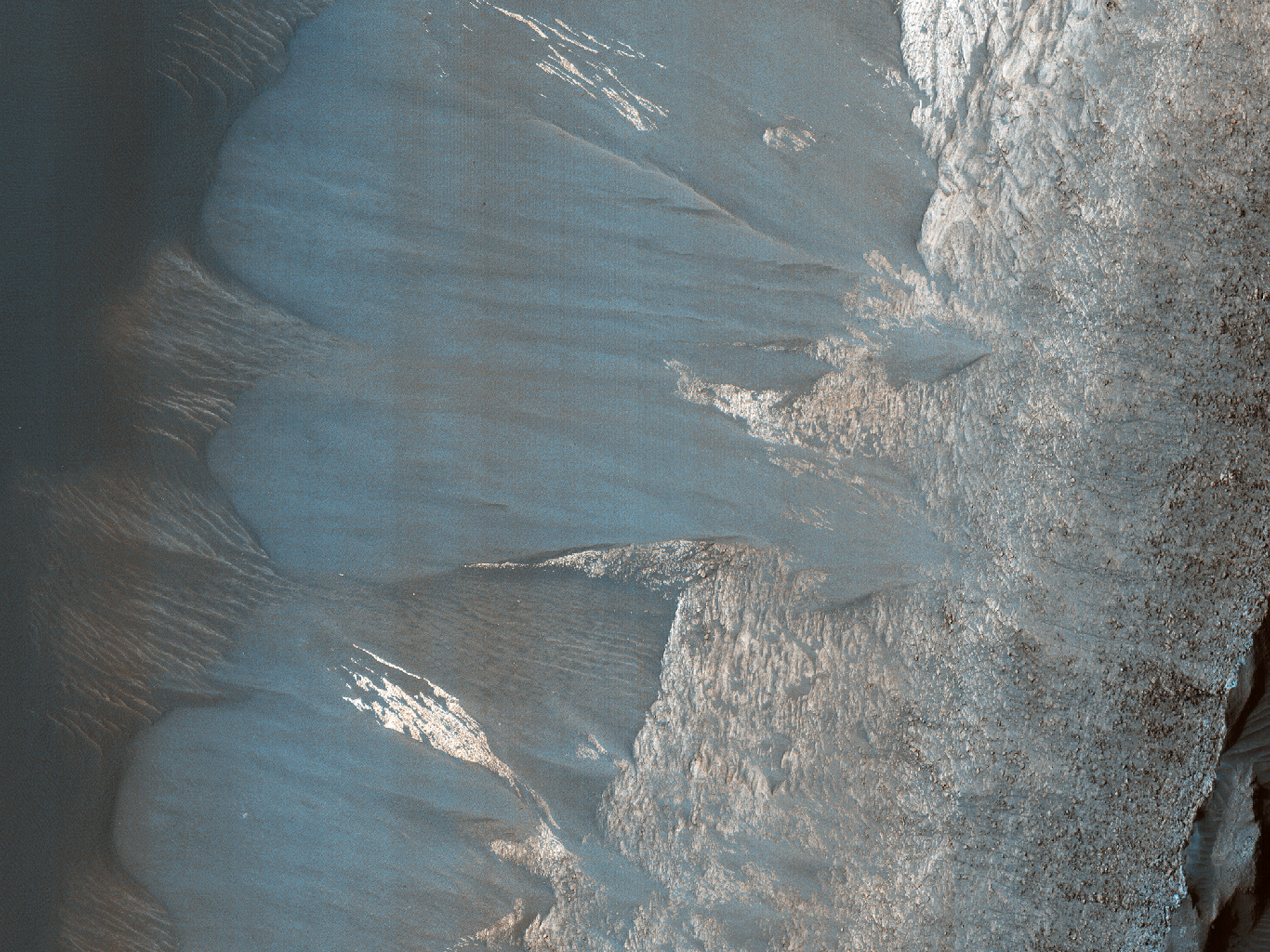 Slope Monitoring on Ganges Mensa