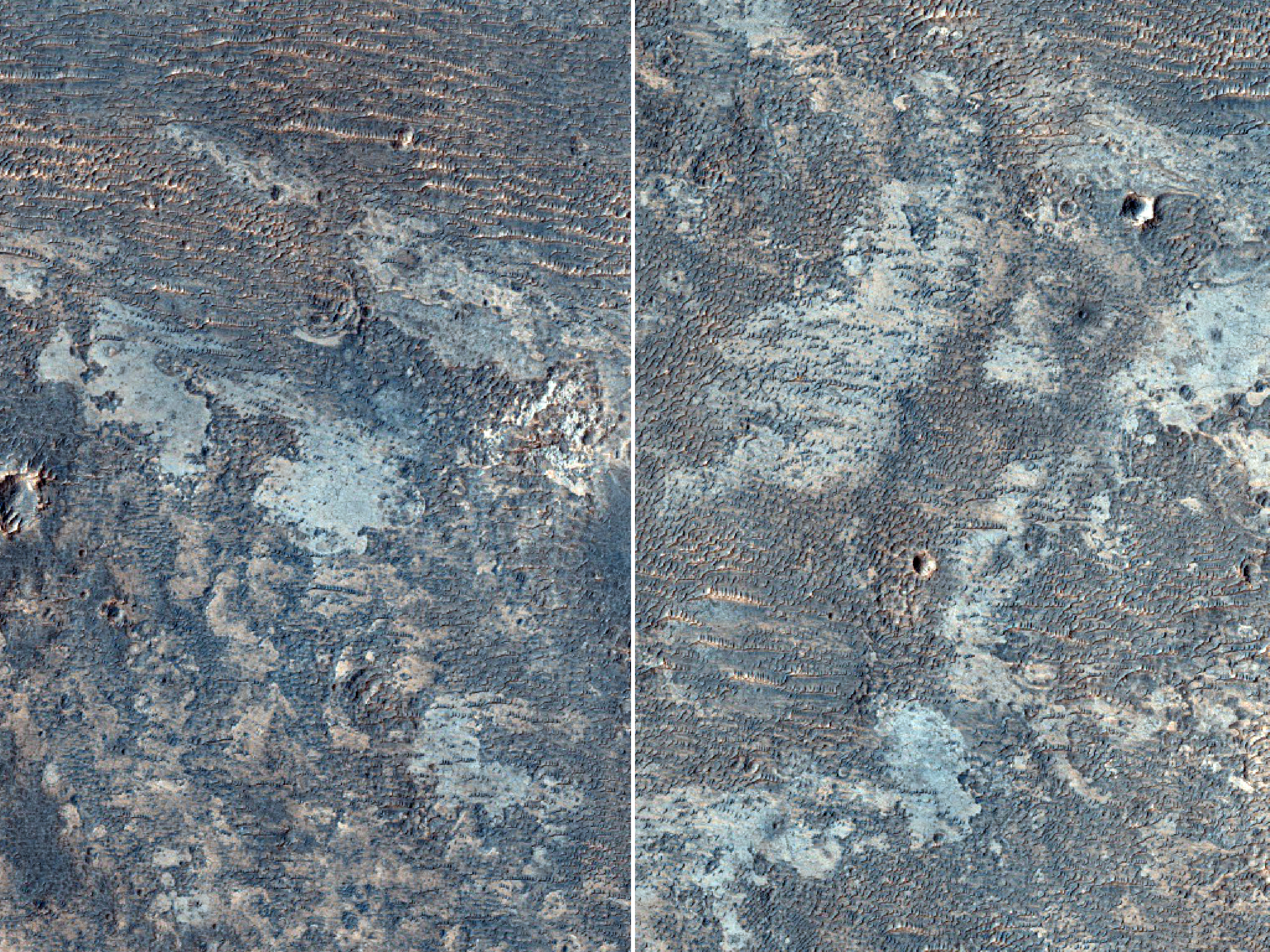 Material Exposed in Plains South of Louros Valles