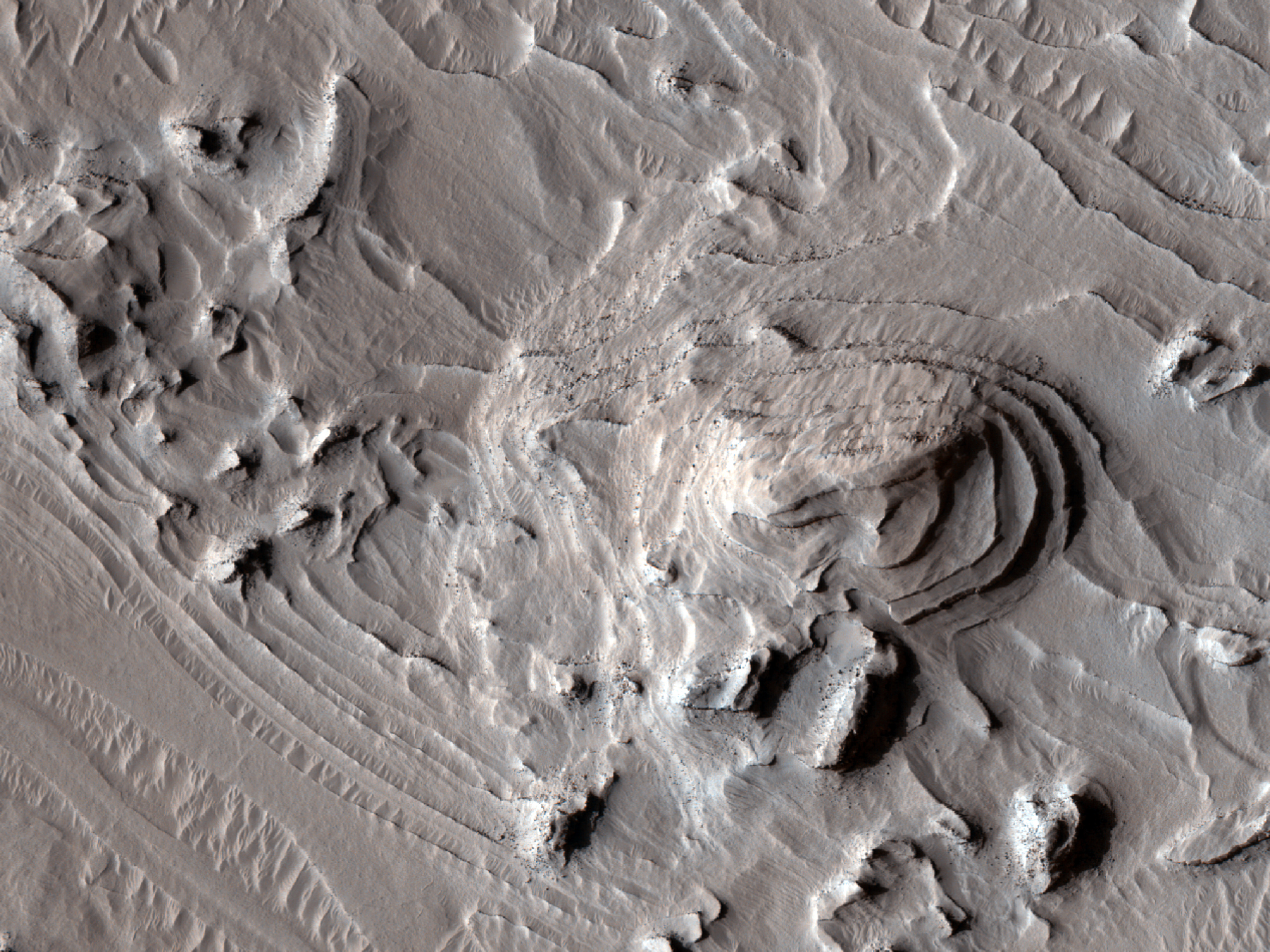 Layers in Crater Southwestern Arabia Terra