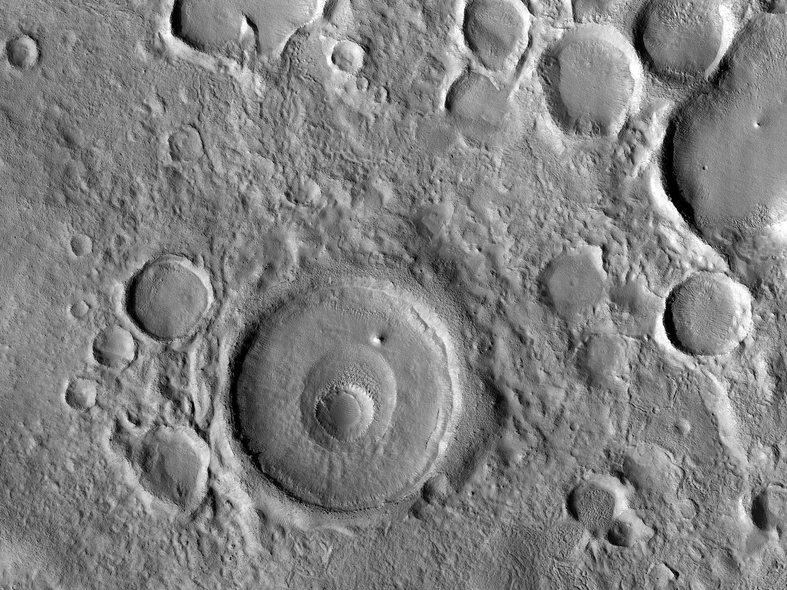 A Crater with a Surrounding Depression