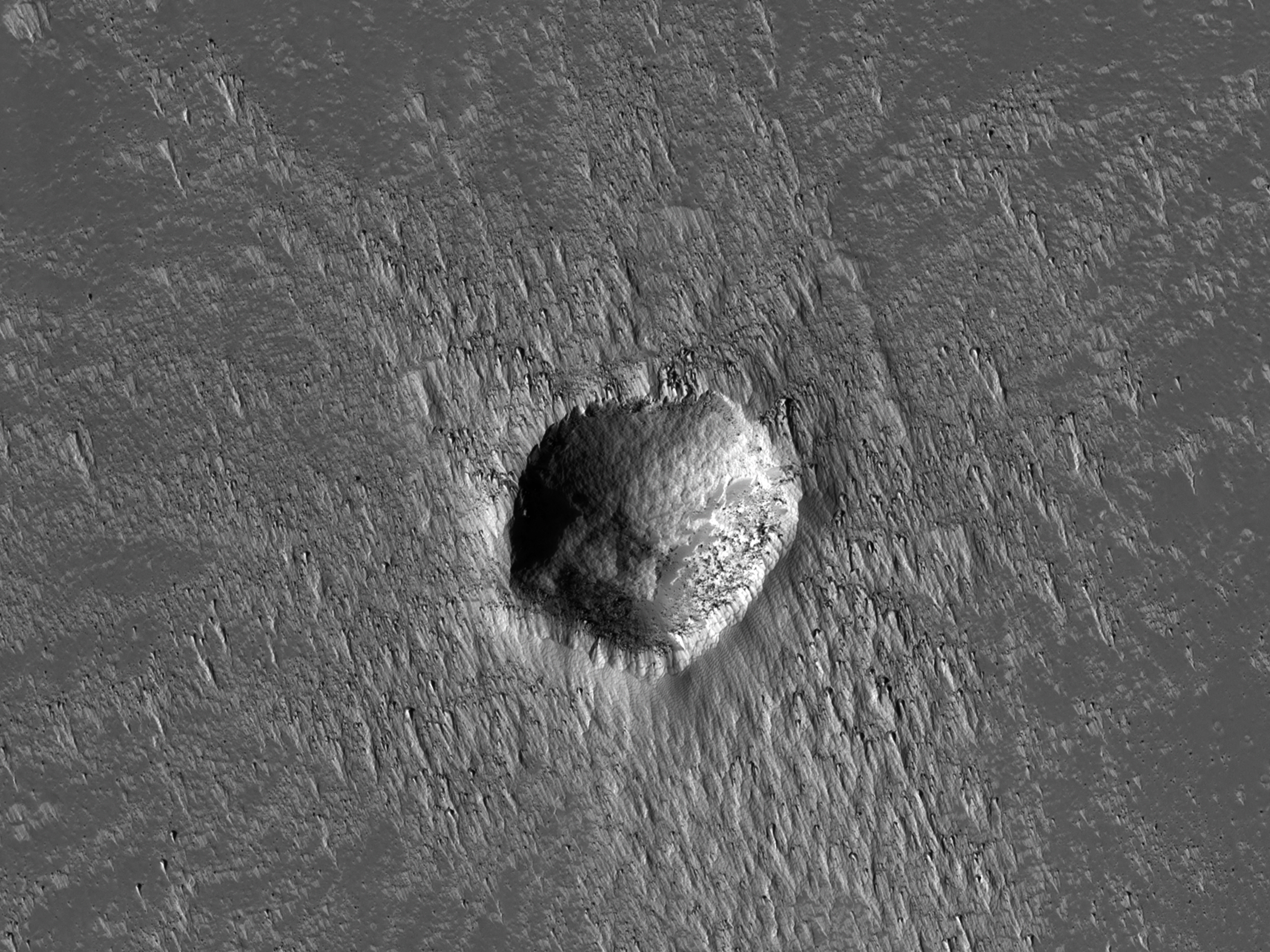 A Young Crater in Syria Planum