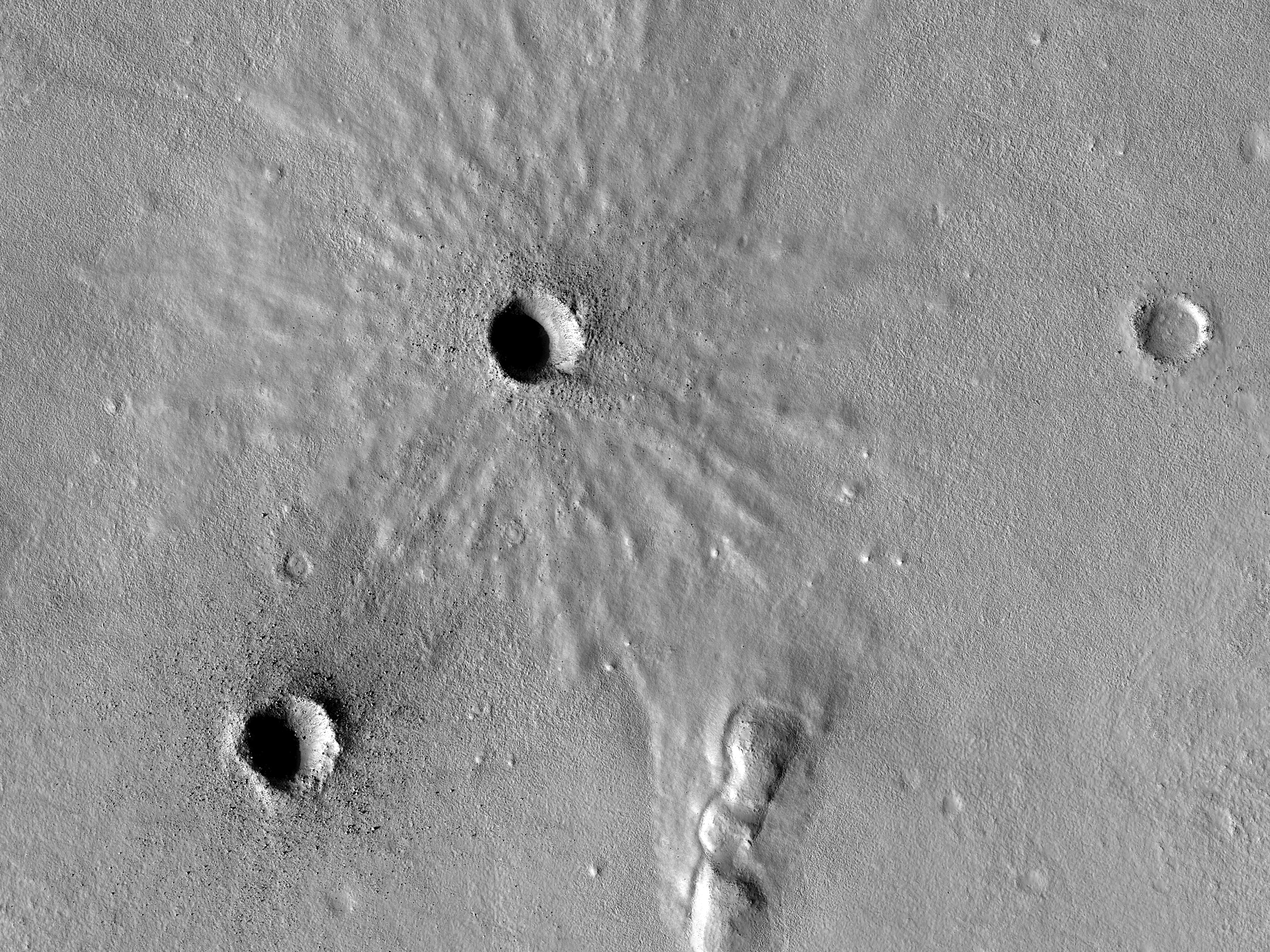 Fresh Craters in the Northern Mid-Latitudes