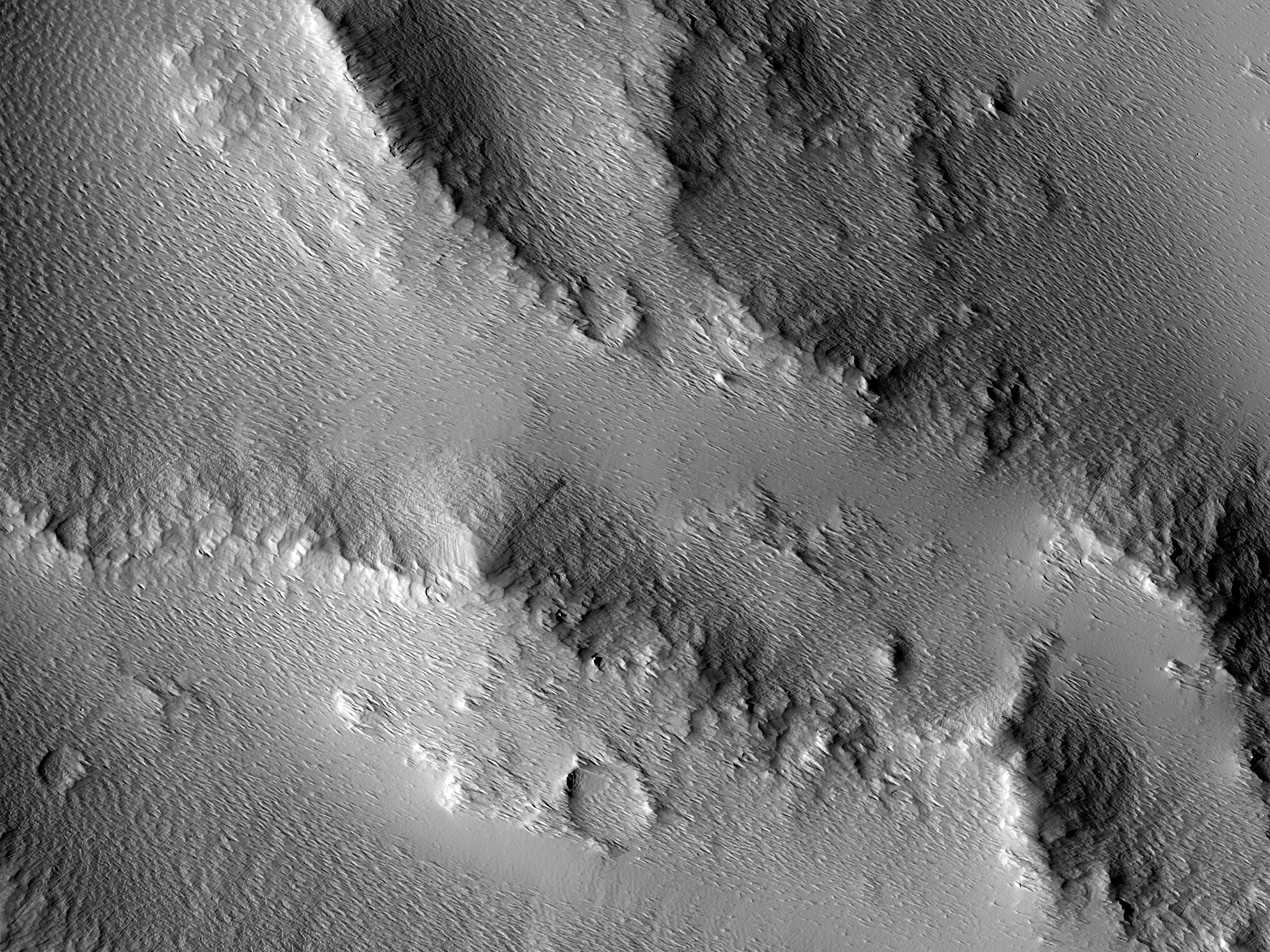 A Crater Wall in Ulysses Patera