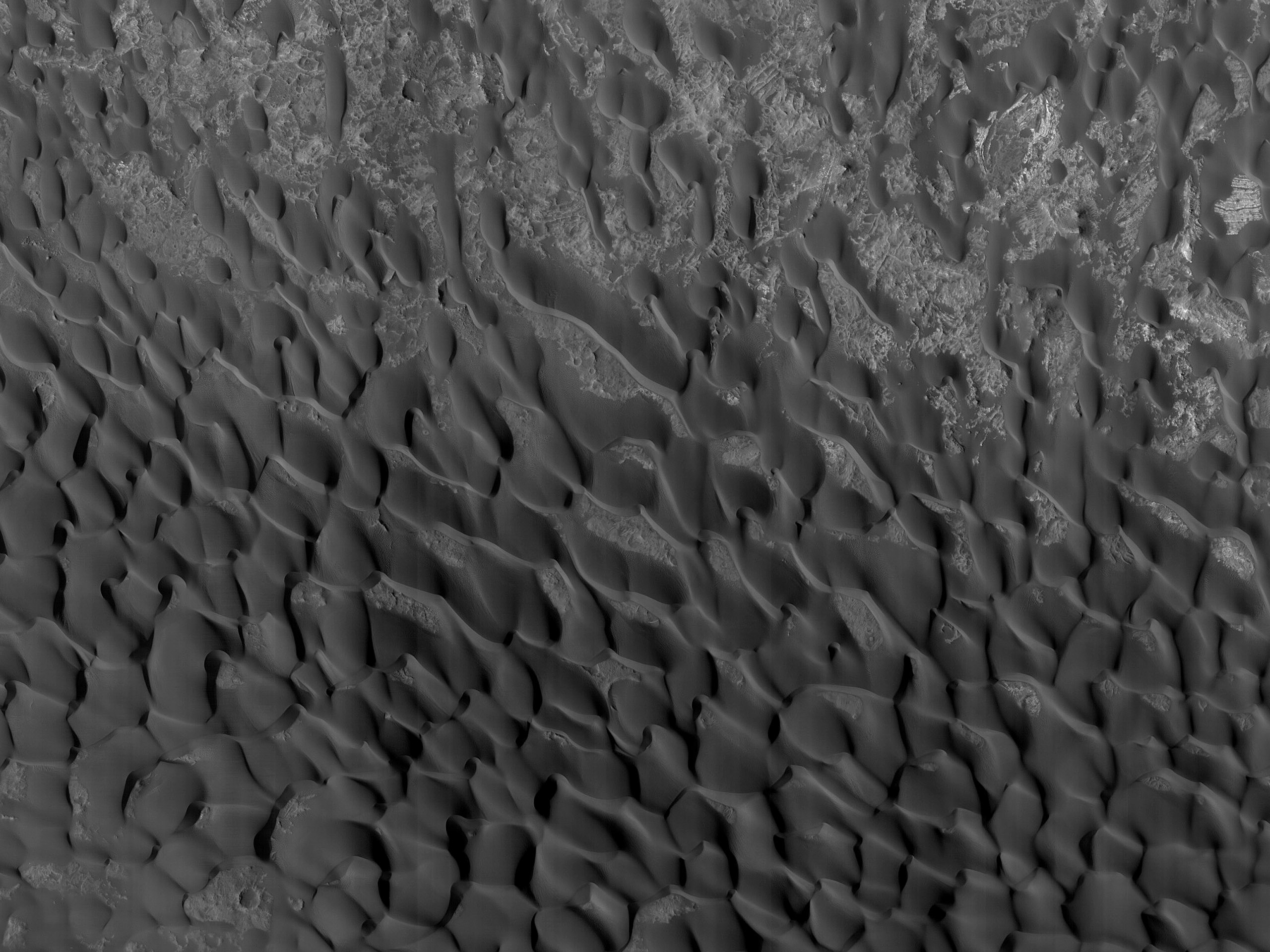 Dunes in Becquerel Crater