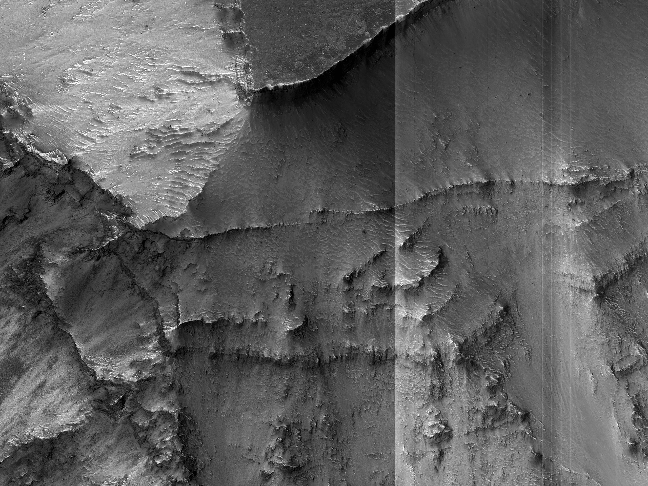 Layers in a Valles Marineris Wall